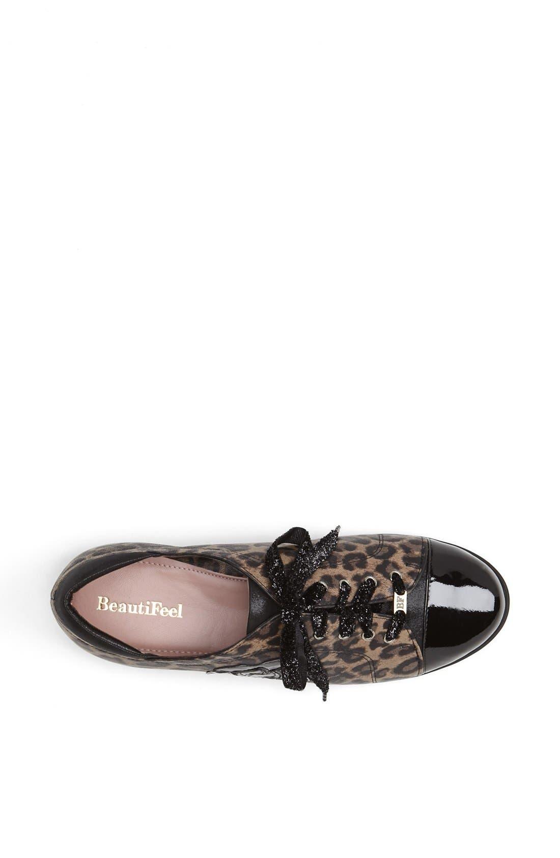 'Aria' Sneaker,                             Alternate thumbnail 3, color,                             Leopard Print Leather