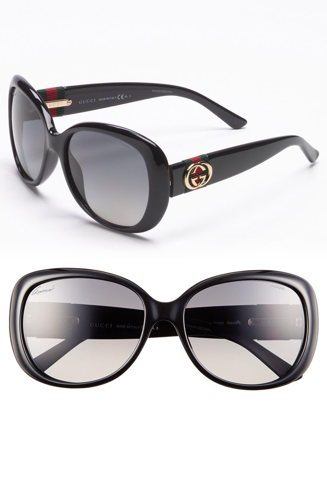 Main Image - Gucci 56mm Polarized Sunglasses