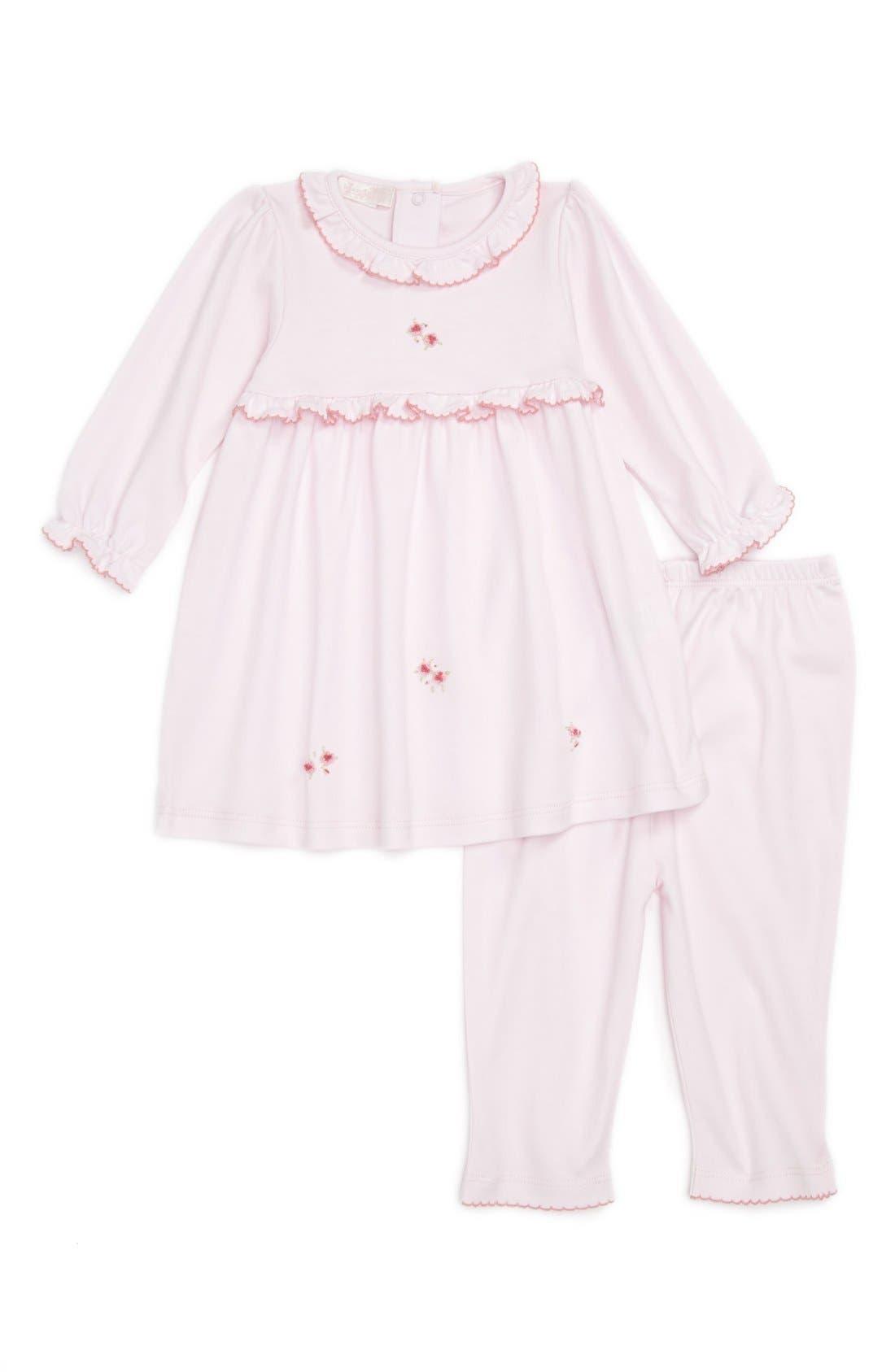Main Image - Kissy Kissy 'Rose Petal' Dress & Leggings (Baby Girls)