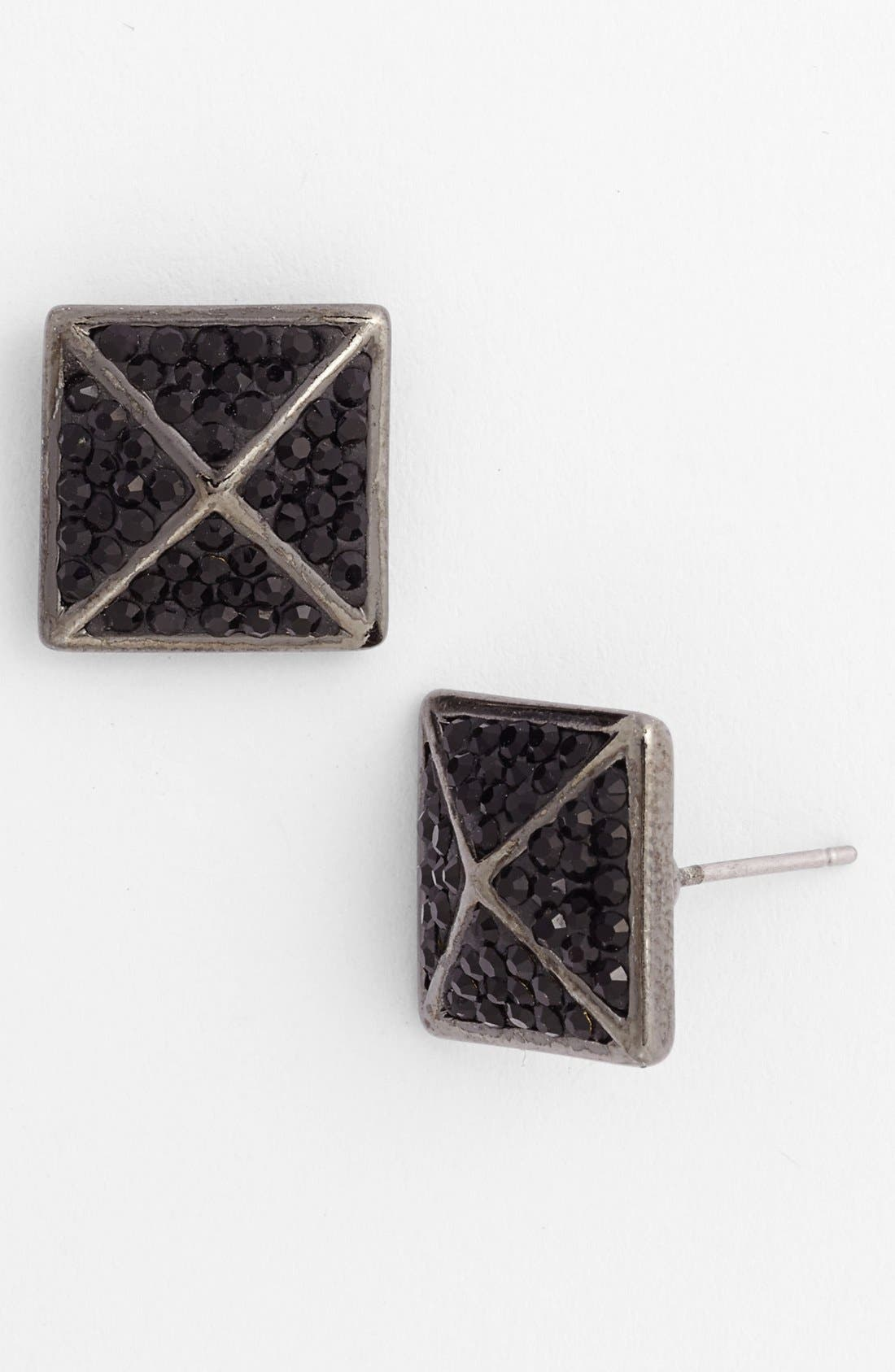 Alternate Image 1 Selected - Nordstrom 'All that Glitters' Crystal Pavé Pyramid Stud Earrings