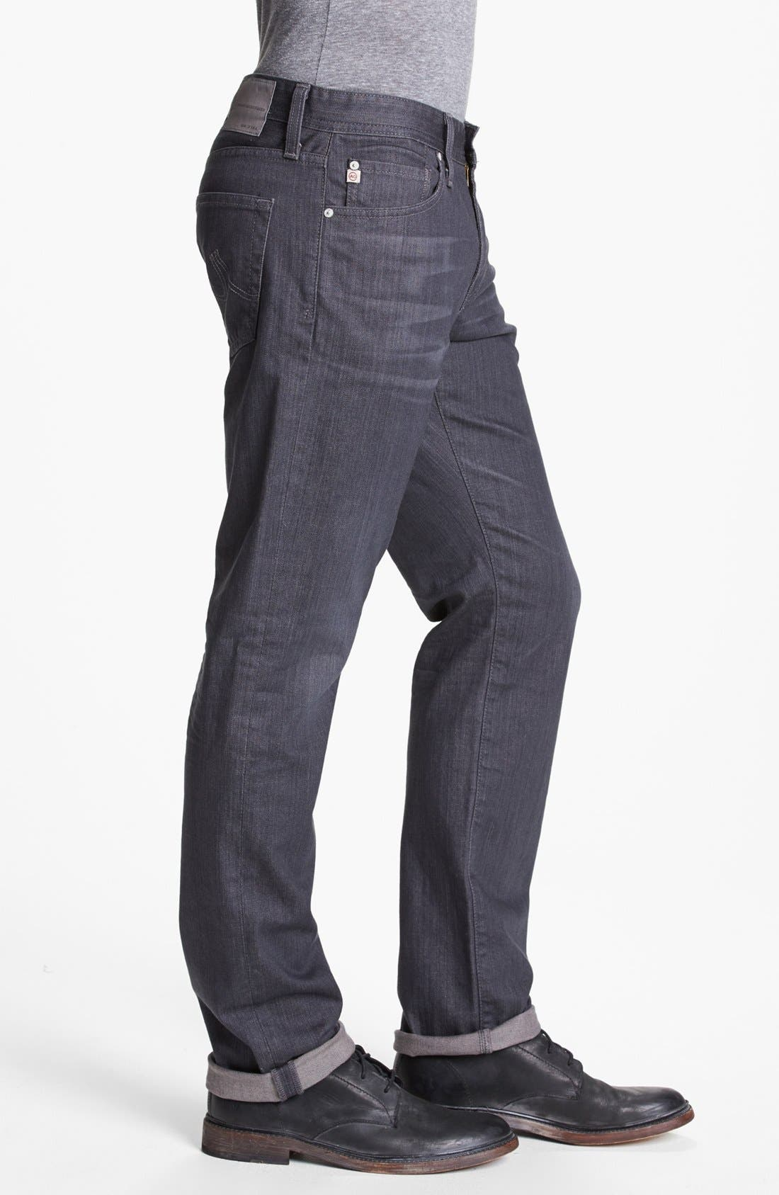Alternate Image 3  - AG 'Graduate' Tailored Fit Straight Leg Jeans (1 Year Grey)
