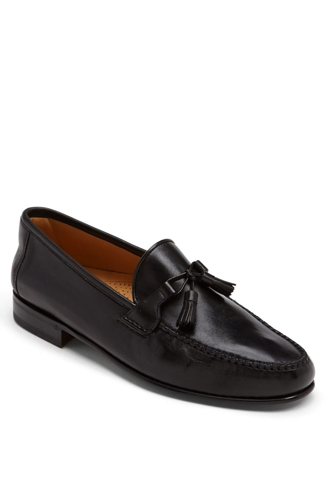 'Urbino' Tassel Loafer,                             Main thumbnail 1, color,                             Black