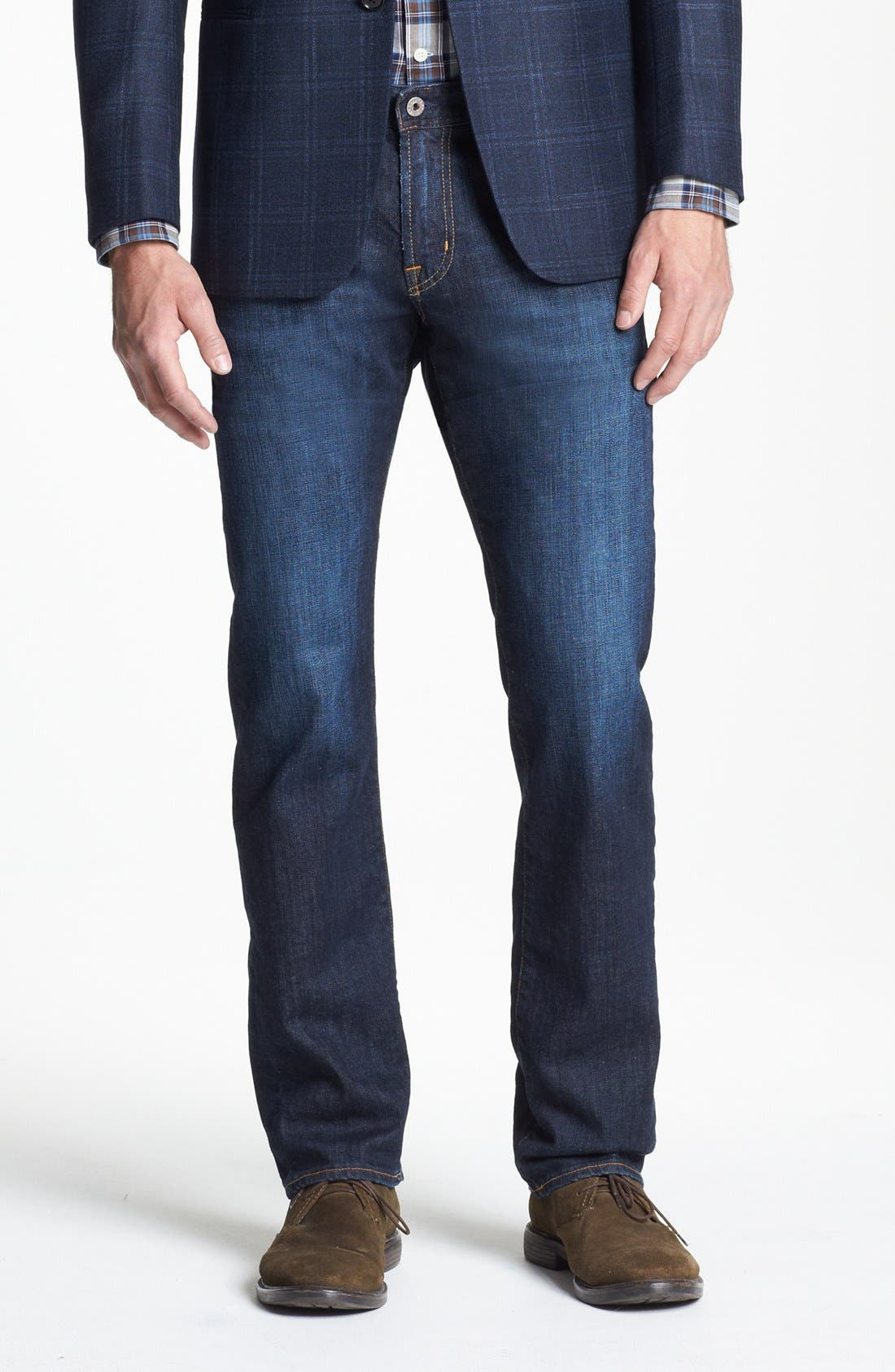 Alternate Image 1 Selected - AG Graduate Slim Straight Leg Jeans (Robinson)