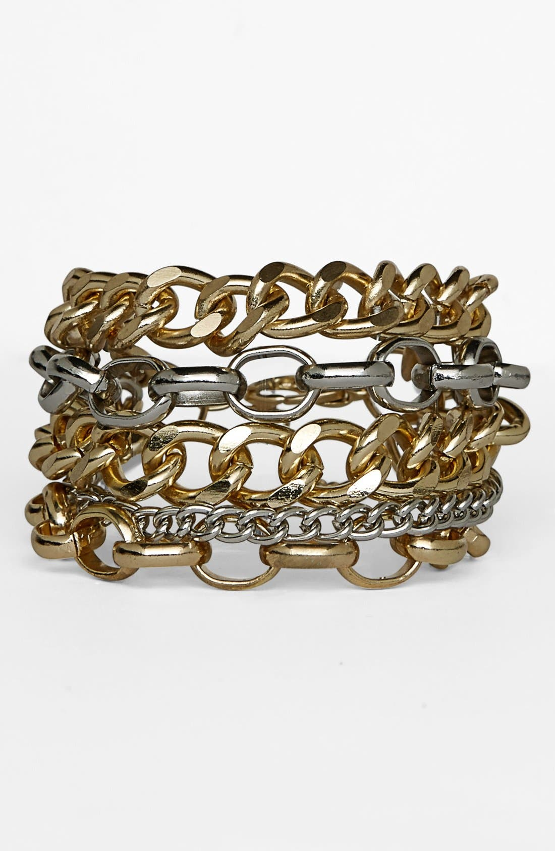 Main Image - Topshop Mixed Chain Bracelets (Set of 5)