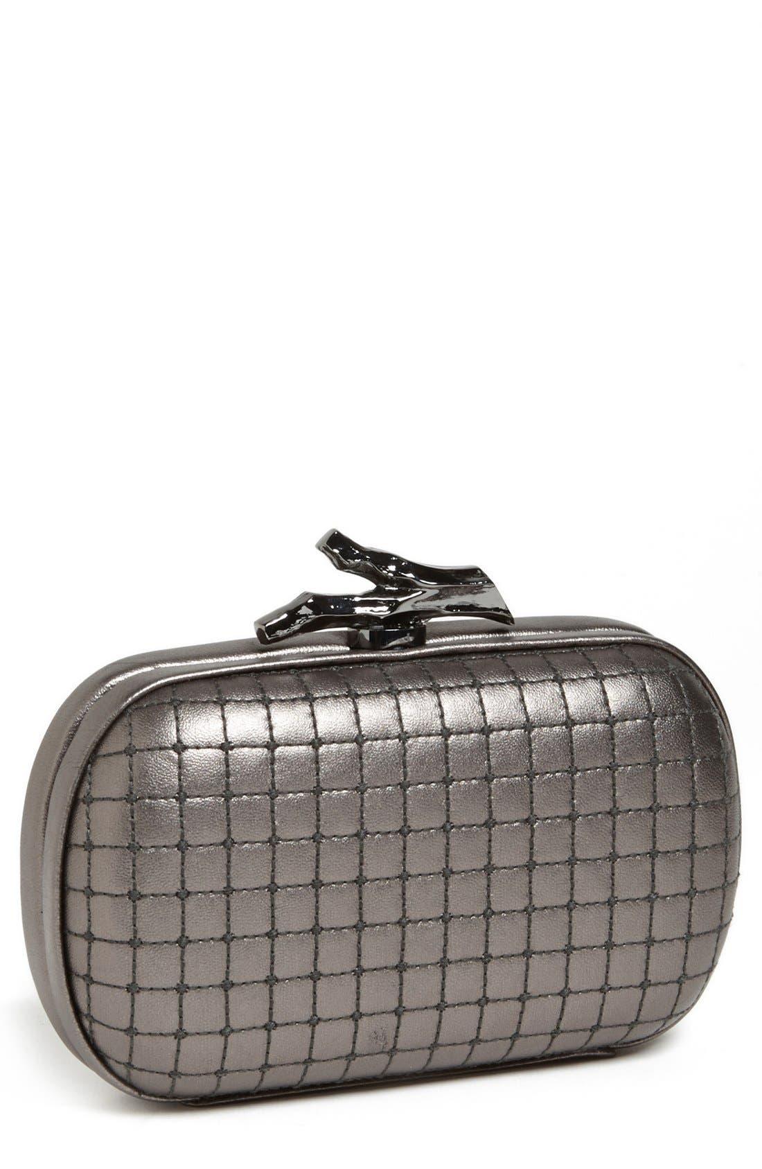 Main Image - Diane von Furstenberg 'Lytton - Small' Quilted Metallic Leather Clutch