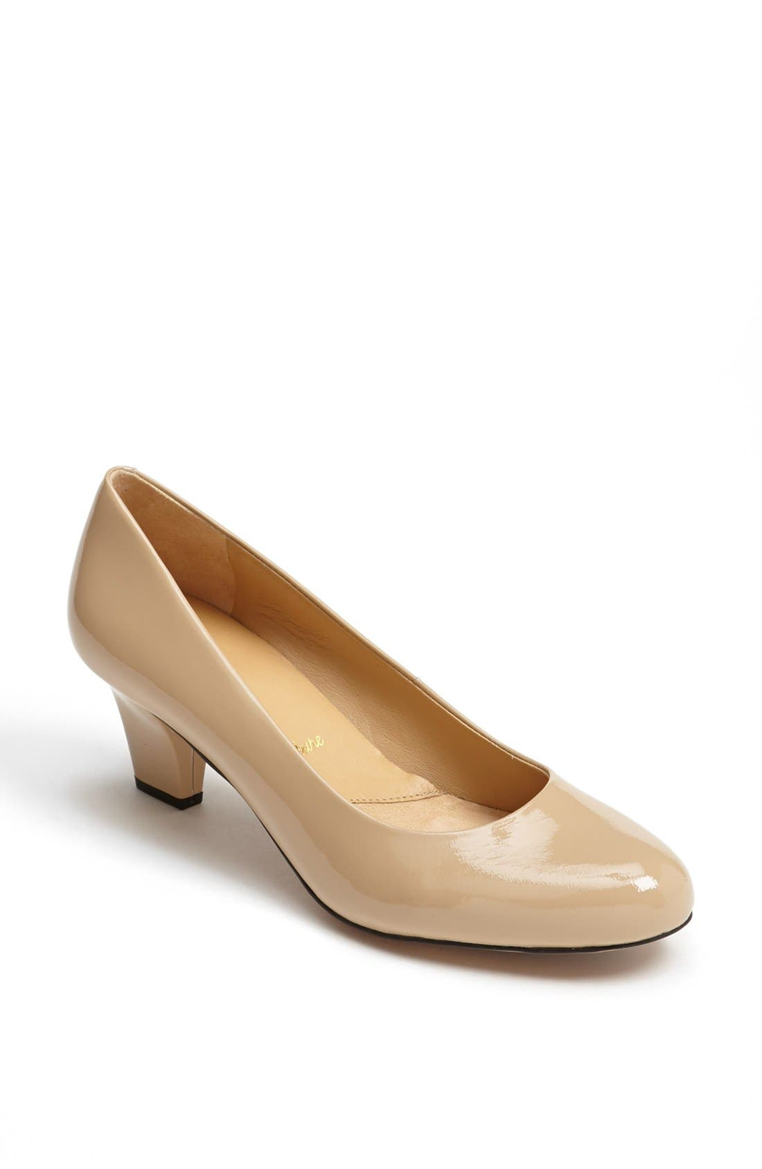 Signature 'Penelope' Pump,                             Main thumbnail 1, color,                             Nude