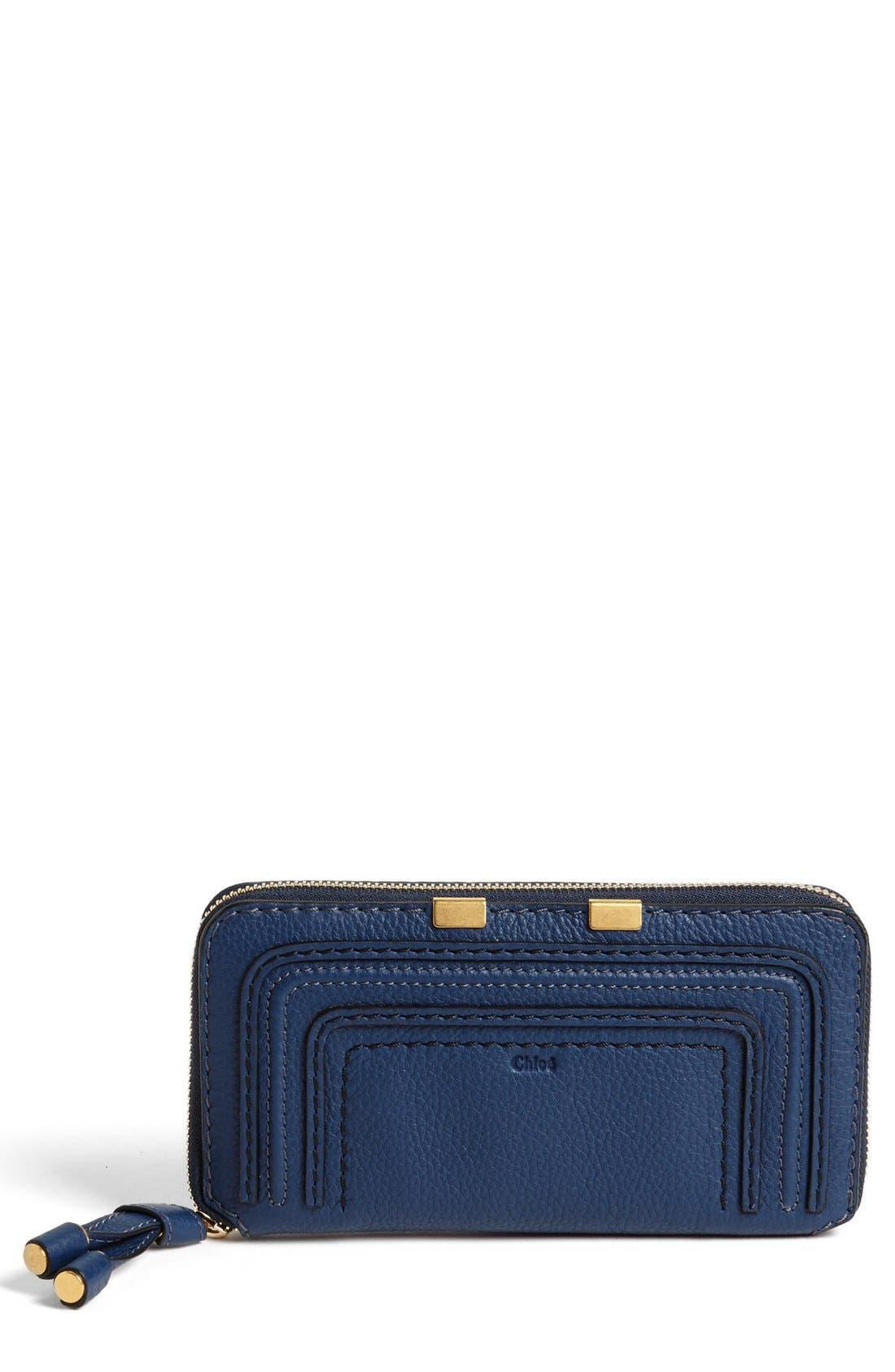 'Marcie - Long' Zip Around Wallet,                         Main,                         color, Royal Navy