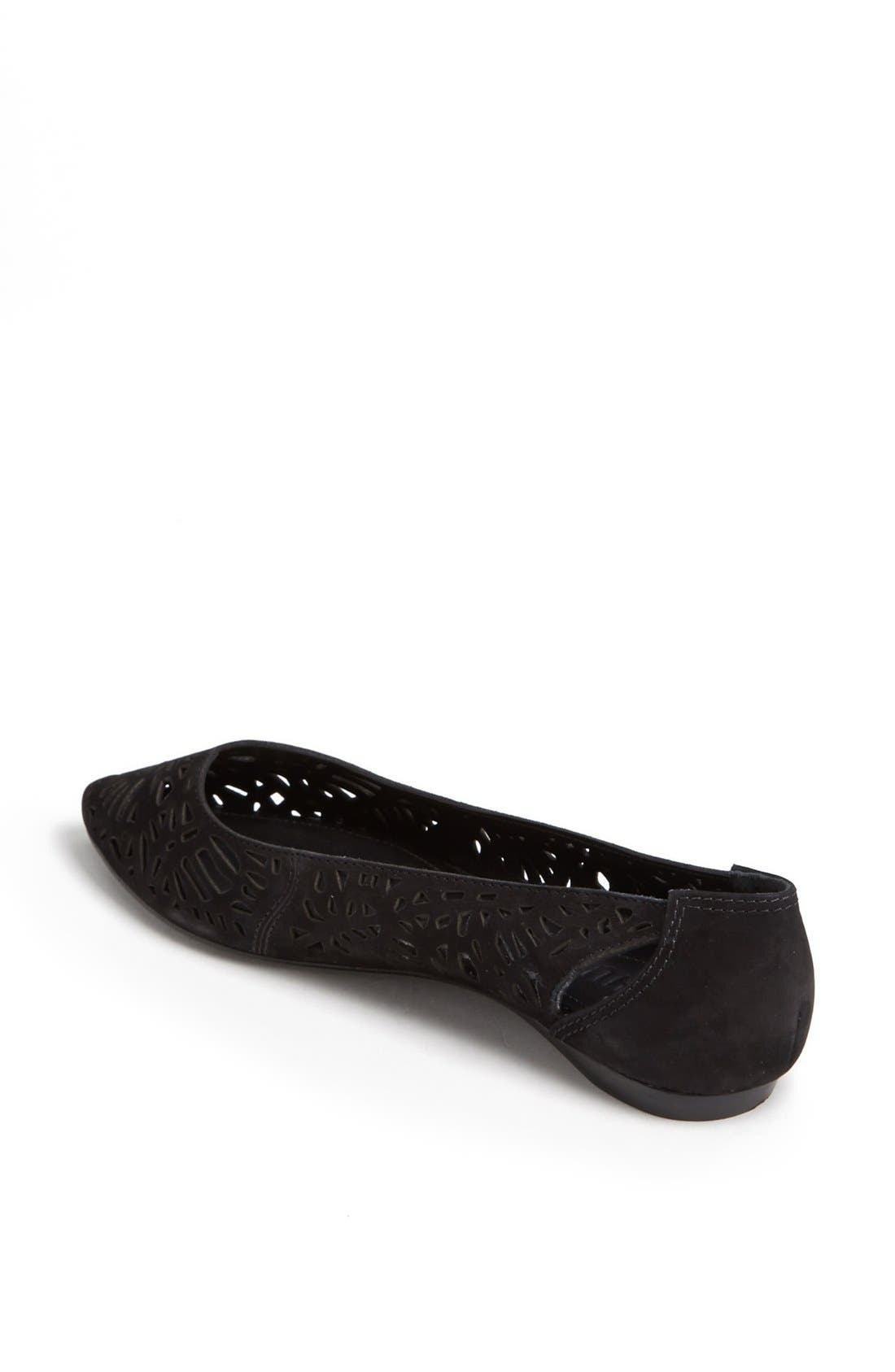 'Cicely' Perforated Flat,                             Alternate thumbnail 2, color,                             Black