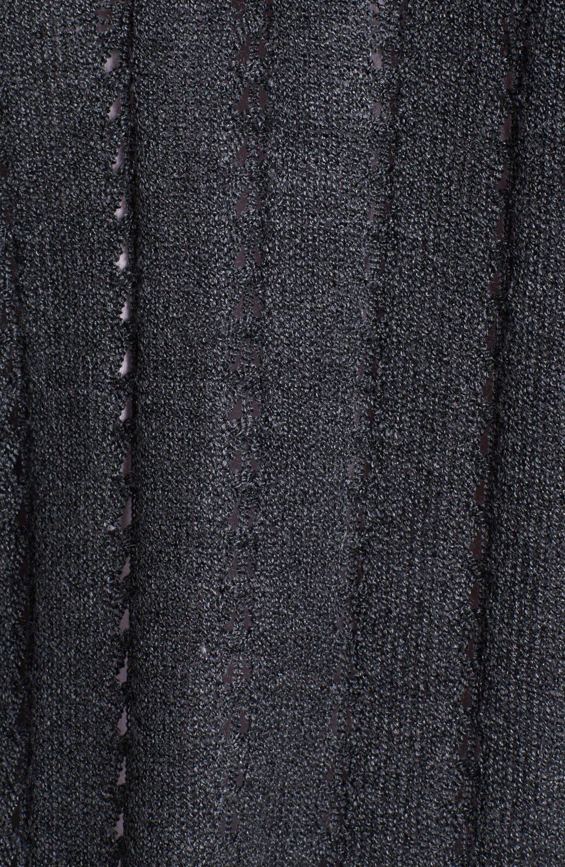 Alternate Image 3  - Cotton Emporium Pointelle Knit Cardigan (Juniors)
