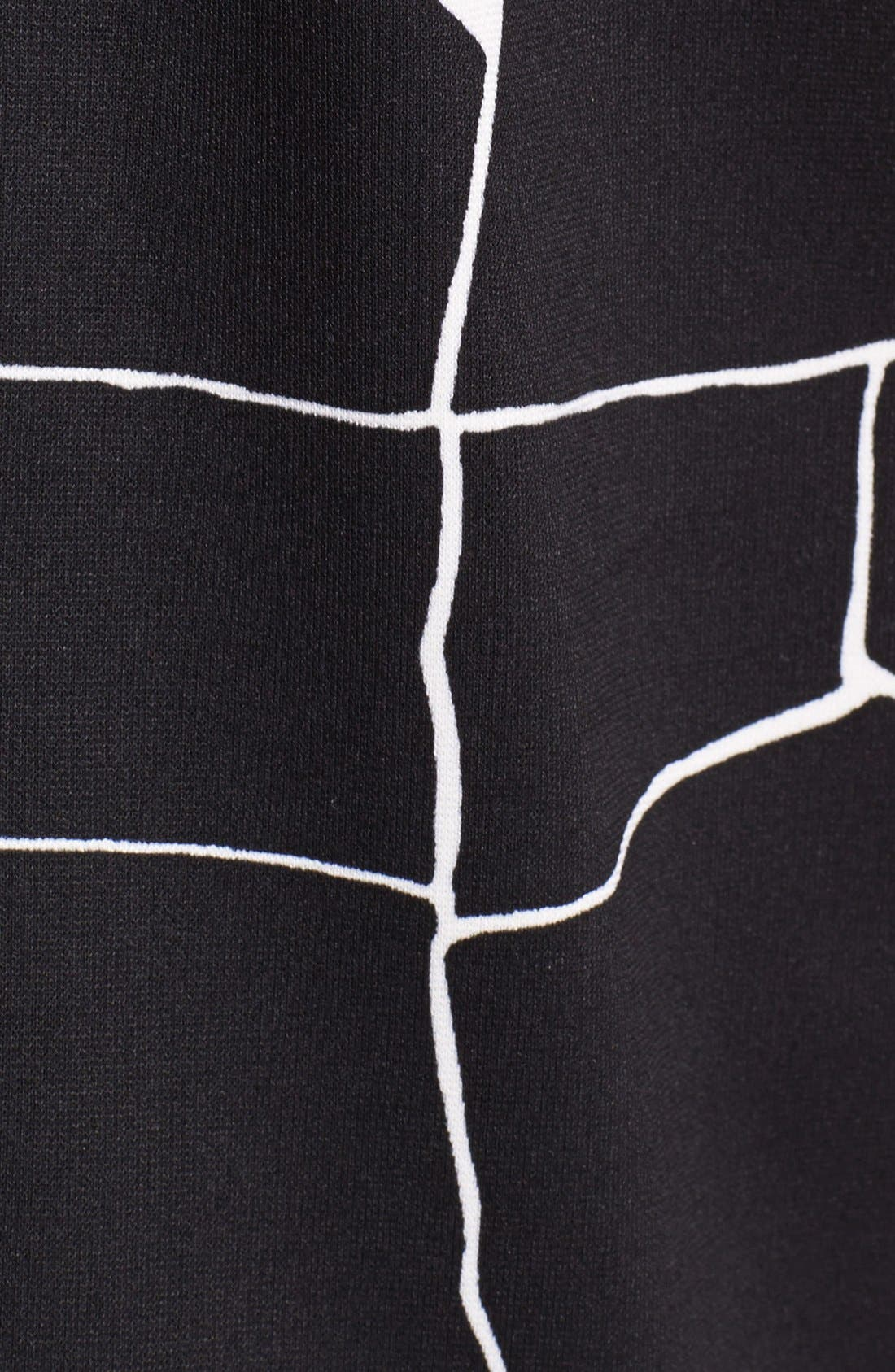 Alternate Image 5  - Vince Camuto Faux Patent Leather Trim Print Pencil Skirt