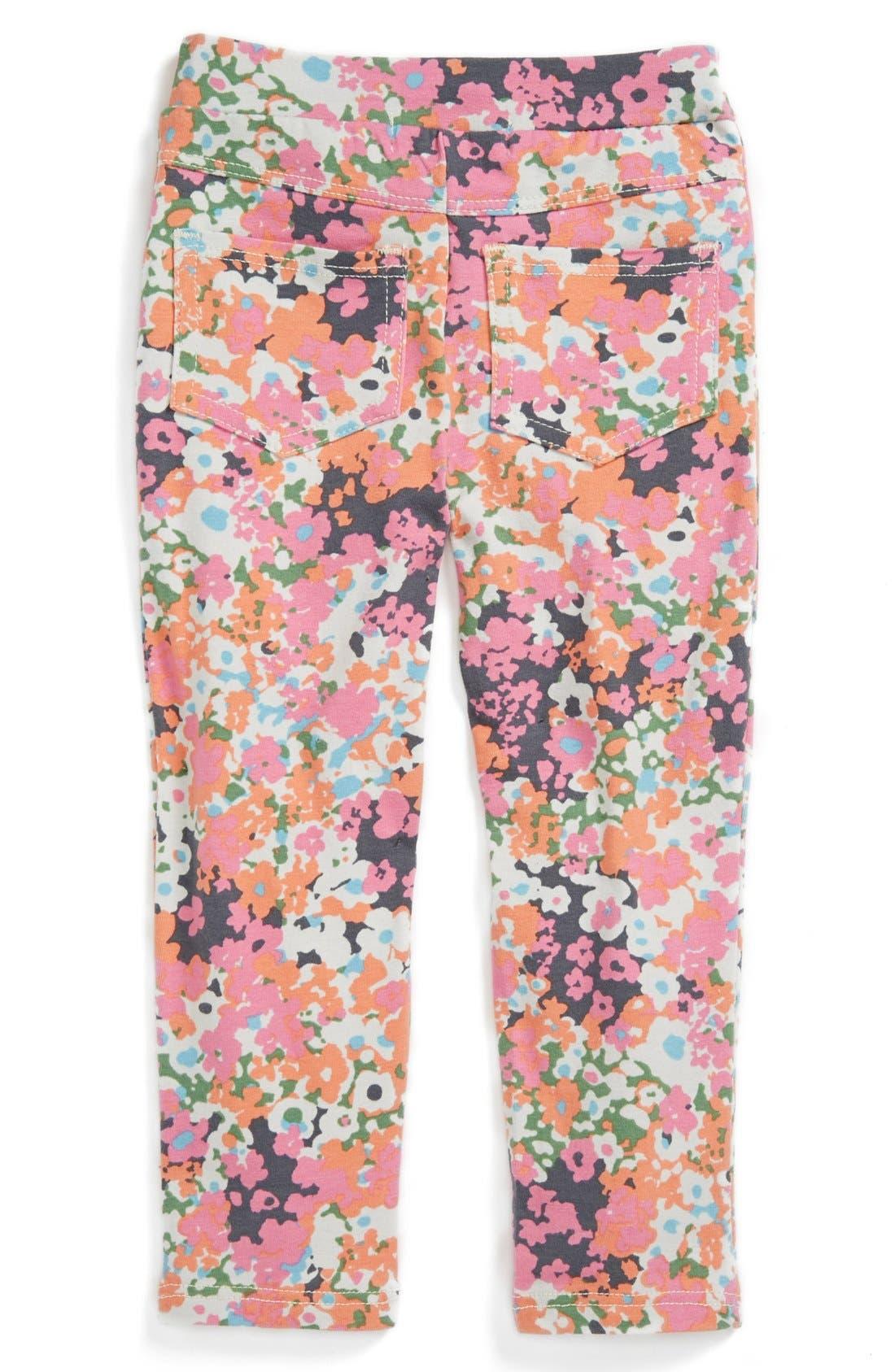Alternate Image 2  - TA-EAM Floral Print Leggings (Toddler Girls)