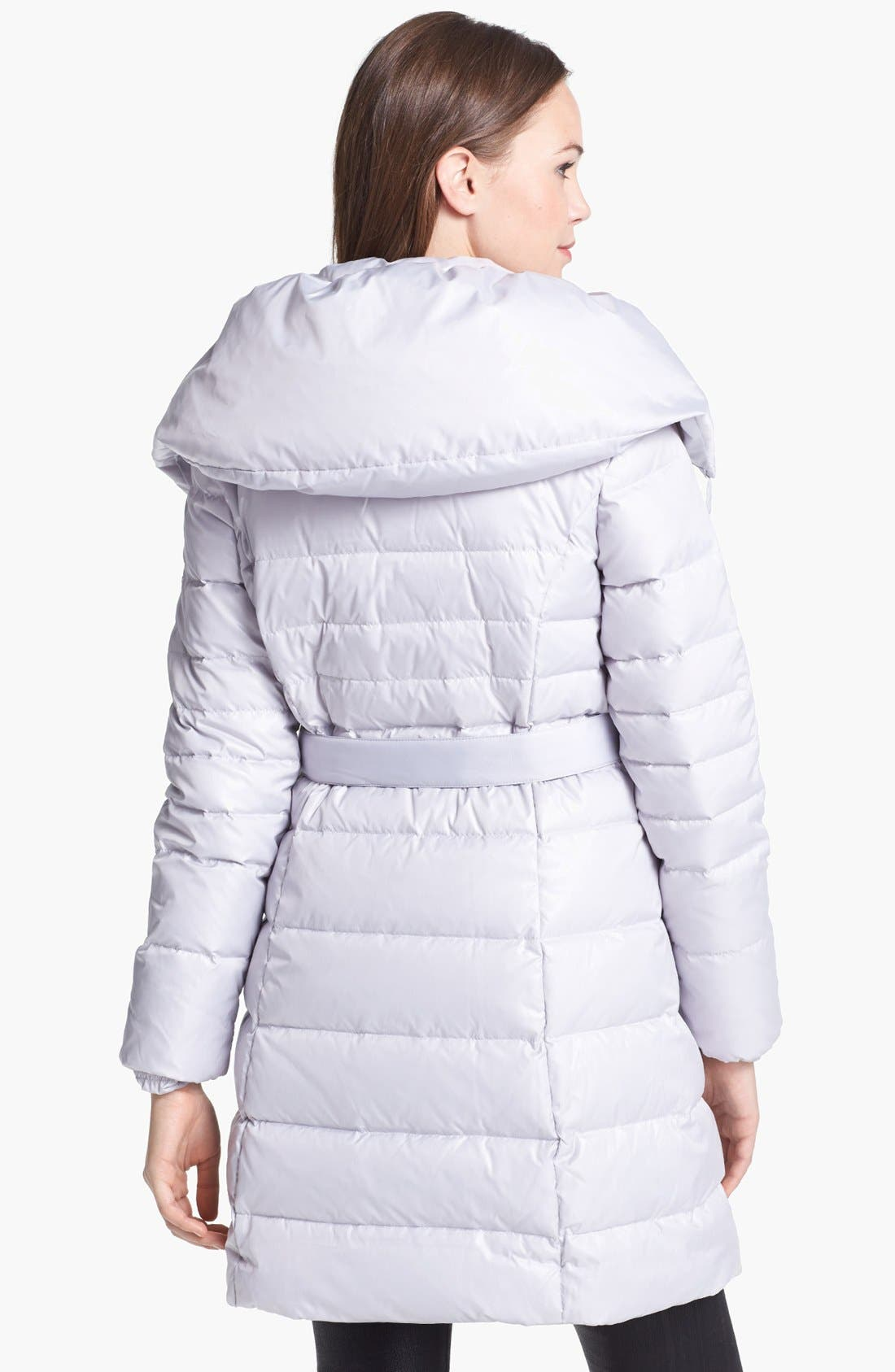 Alternate Image 2  - Via Spiga Pillow Collar Down & Feather Coat (Online Only)