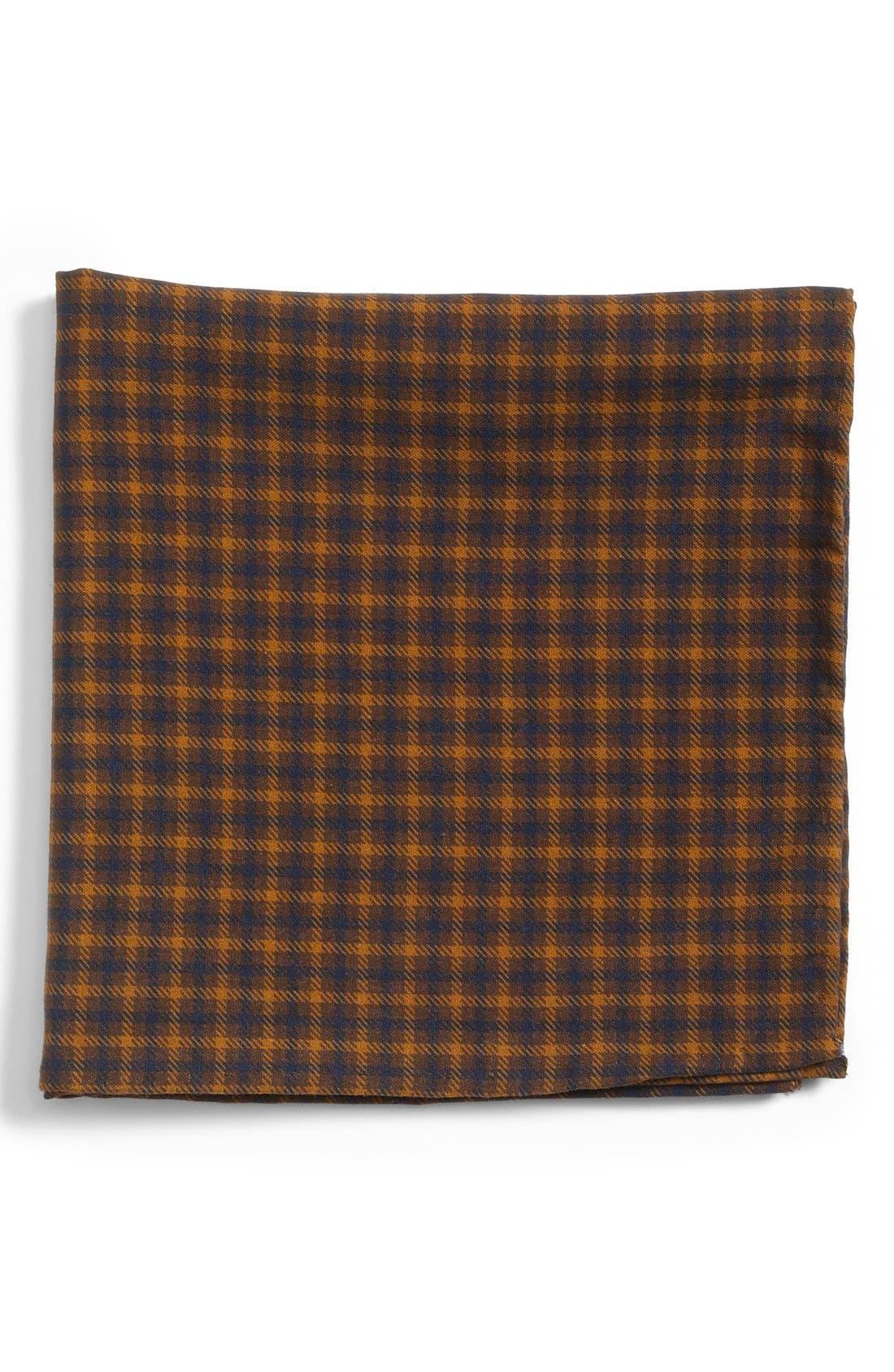 Main Image - Gitman Plaid Silk Pocket Square
