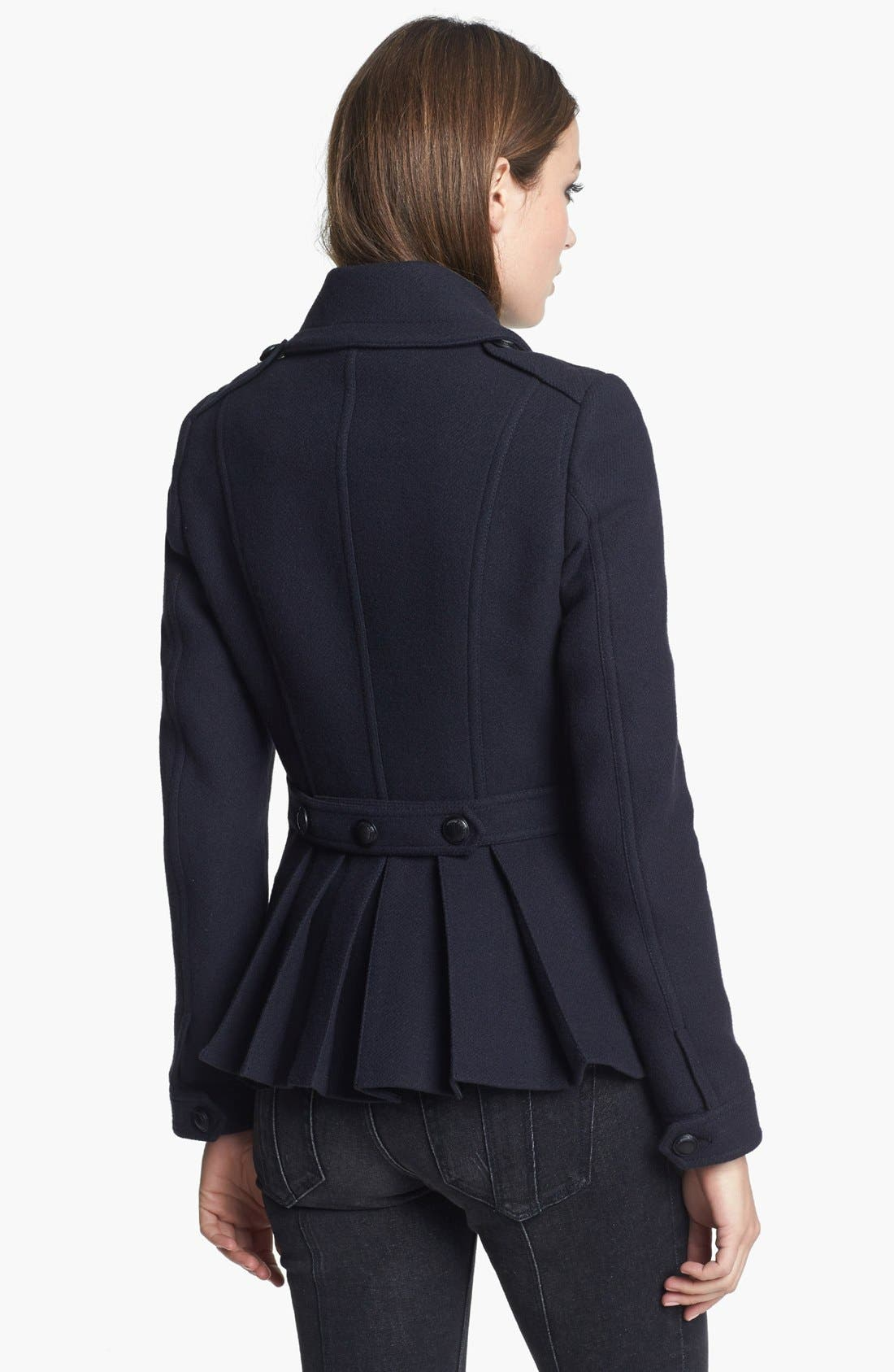 Alternate Image 2  - Burberry Brit Double Breasted Peacoat