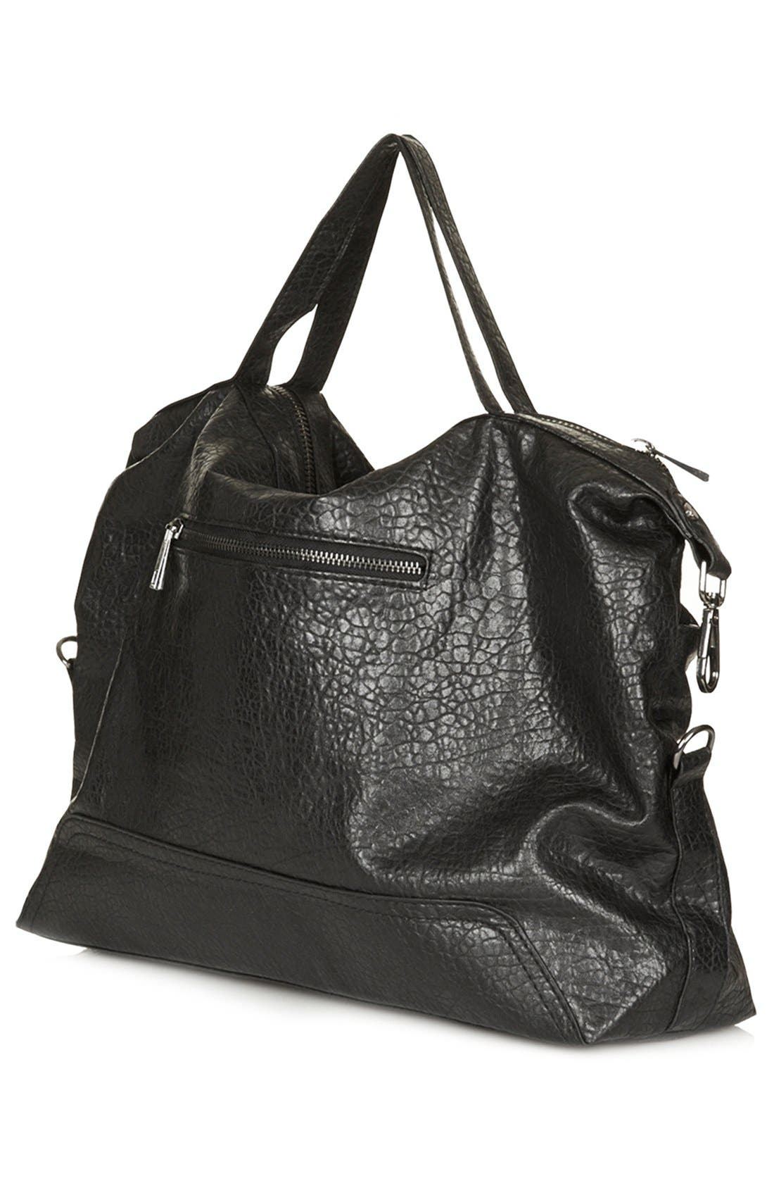Alternate Image 4  - Topshop Faux Leather Satchel