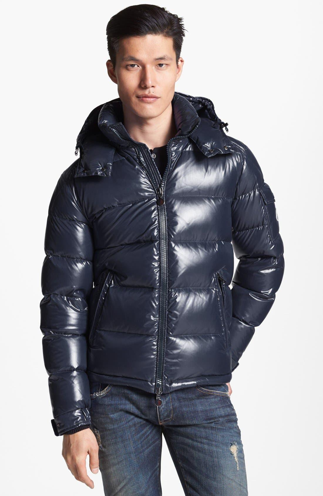 moncler maya jacket black