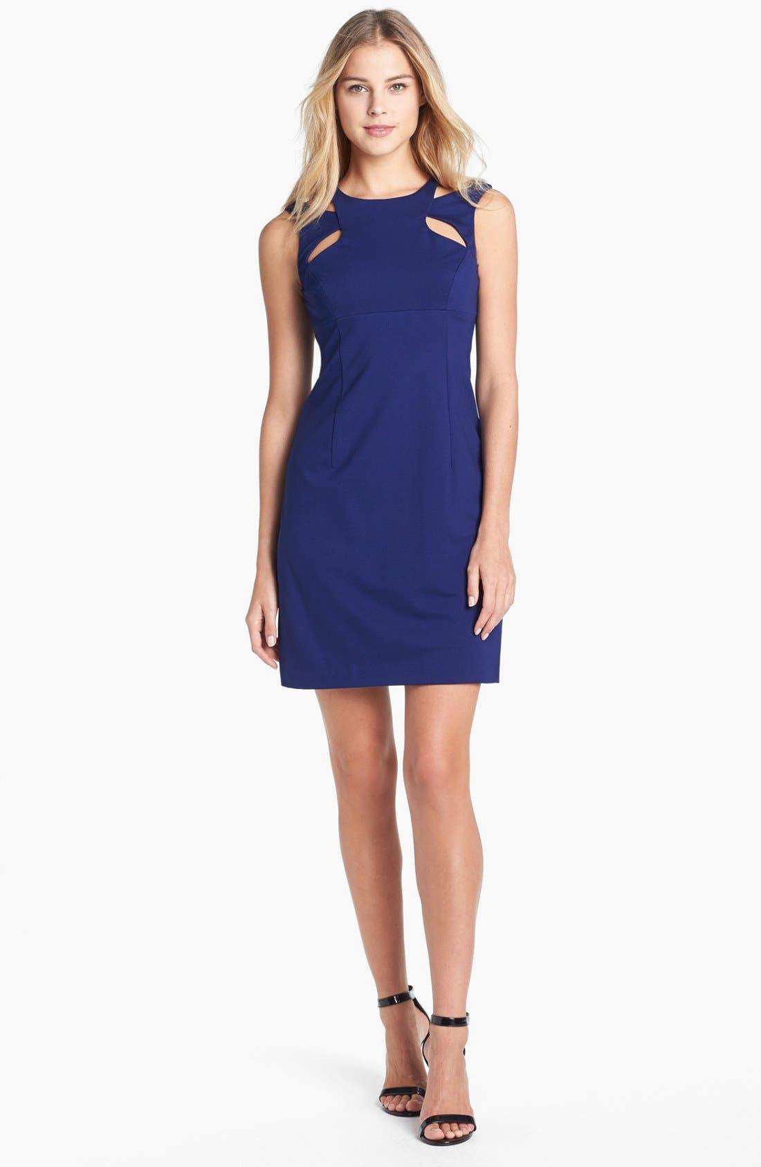 Alternate Image 1 Selected - Betsey Johnson Cutout Detail Sheath Dress
