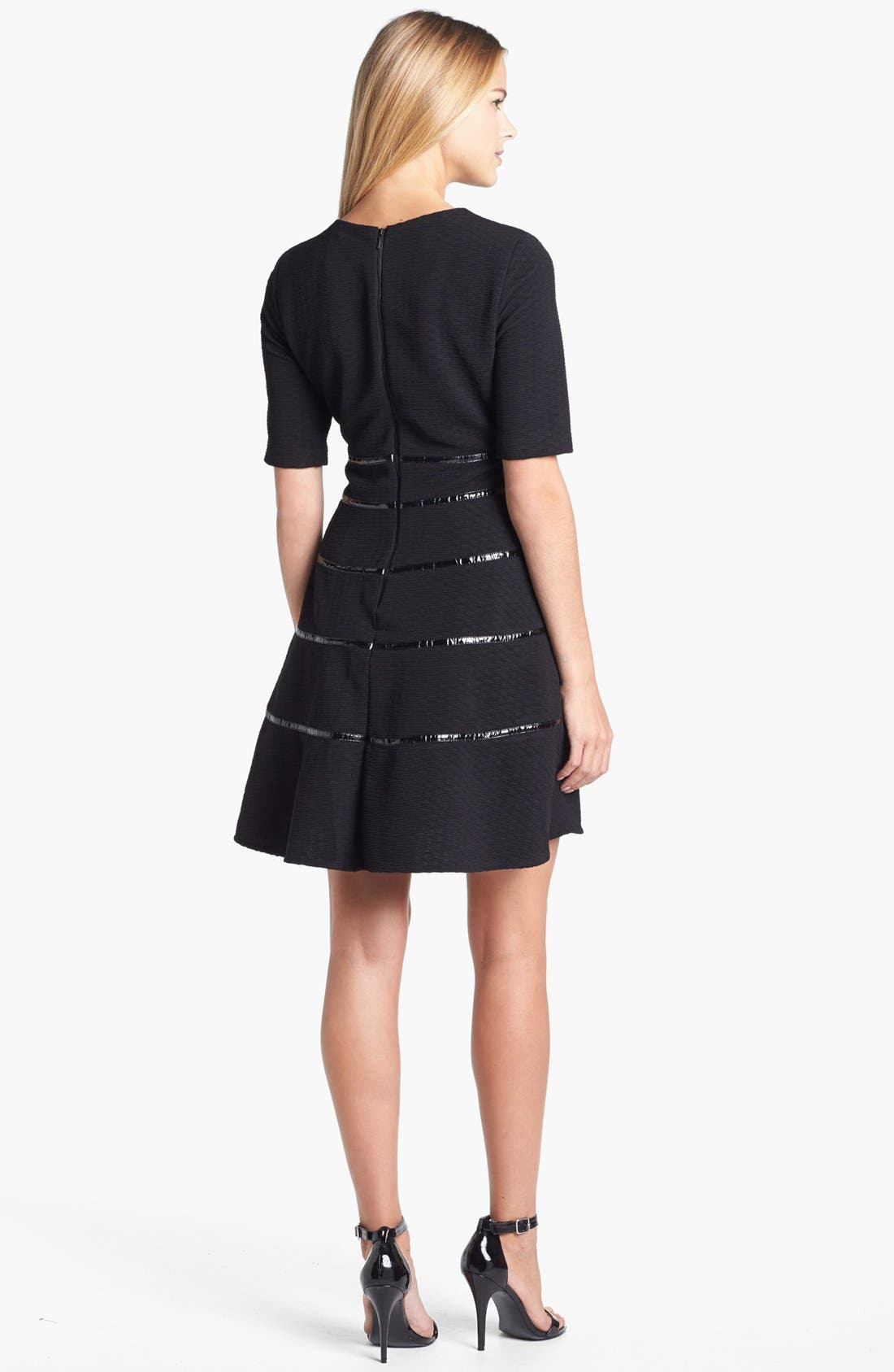 Alternate Image 2  - Taylor Dresses Textured Fit & Flare Dress