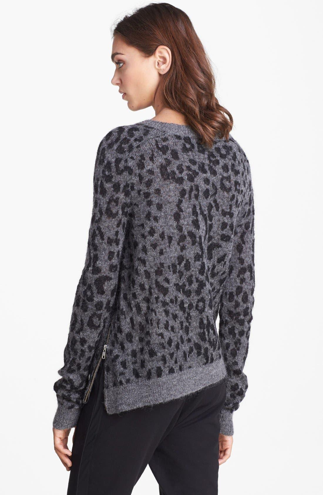 Alternate Image 2  - The Kooples Leopard Pattern Sweater