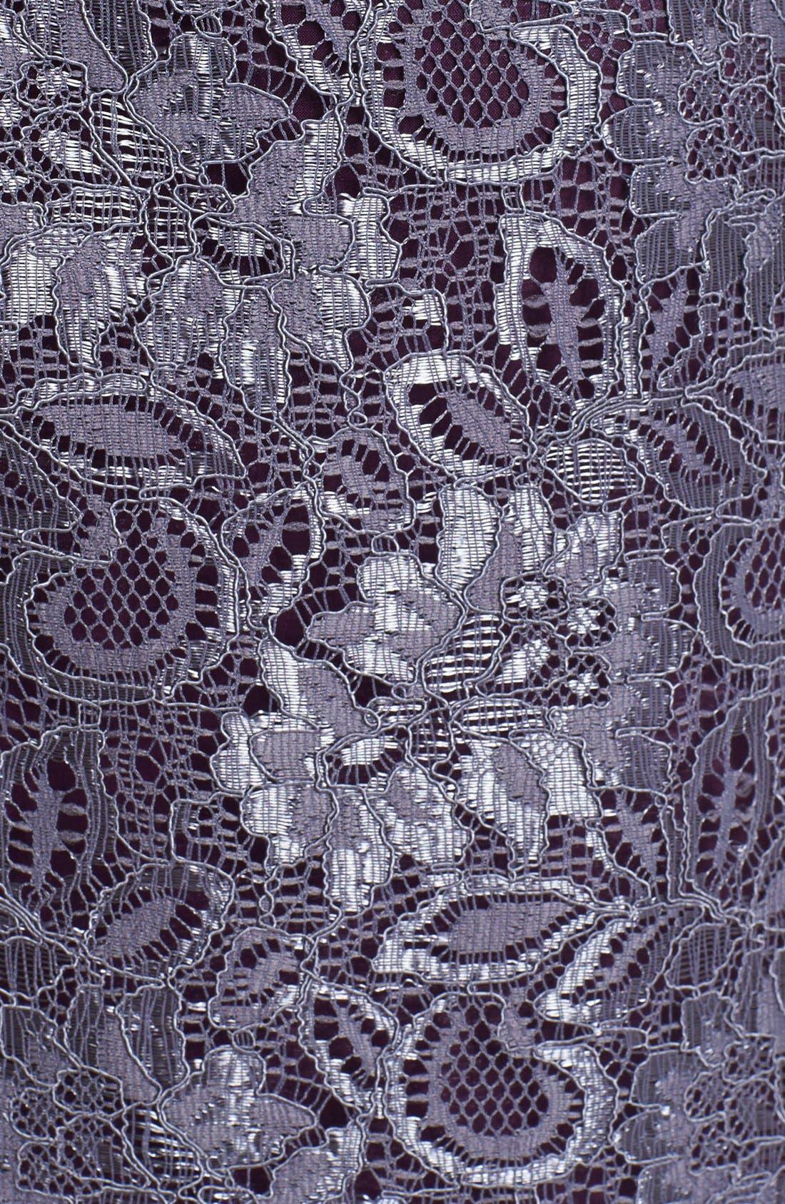 Alternate Image 3  - Adrianna Papell Lace Peplum Sheath Dress (Petite)
