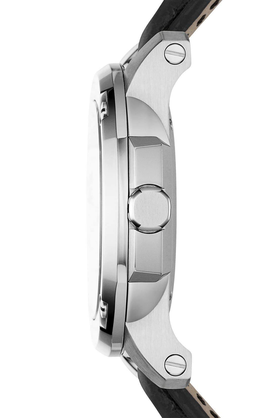 Alternate Image 4  - Burberry The Britain Automatic Alligator Strap Watch, 47mm
