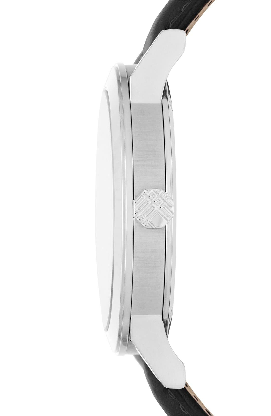Alternate Image 3  - Burberry Check Stamped Round Dial Watch, 38mm