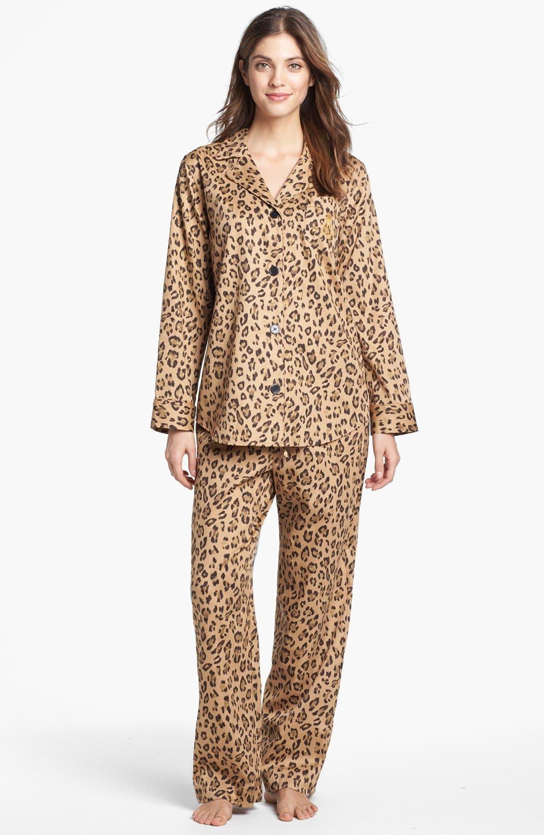 Main Image - Lauren Ralph Lauren Sateen Pajamas