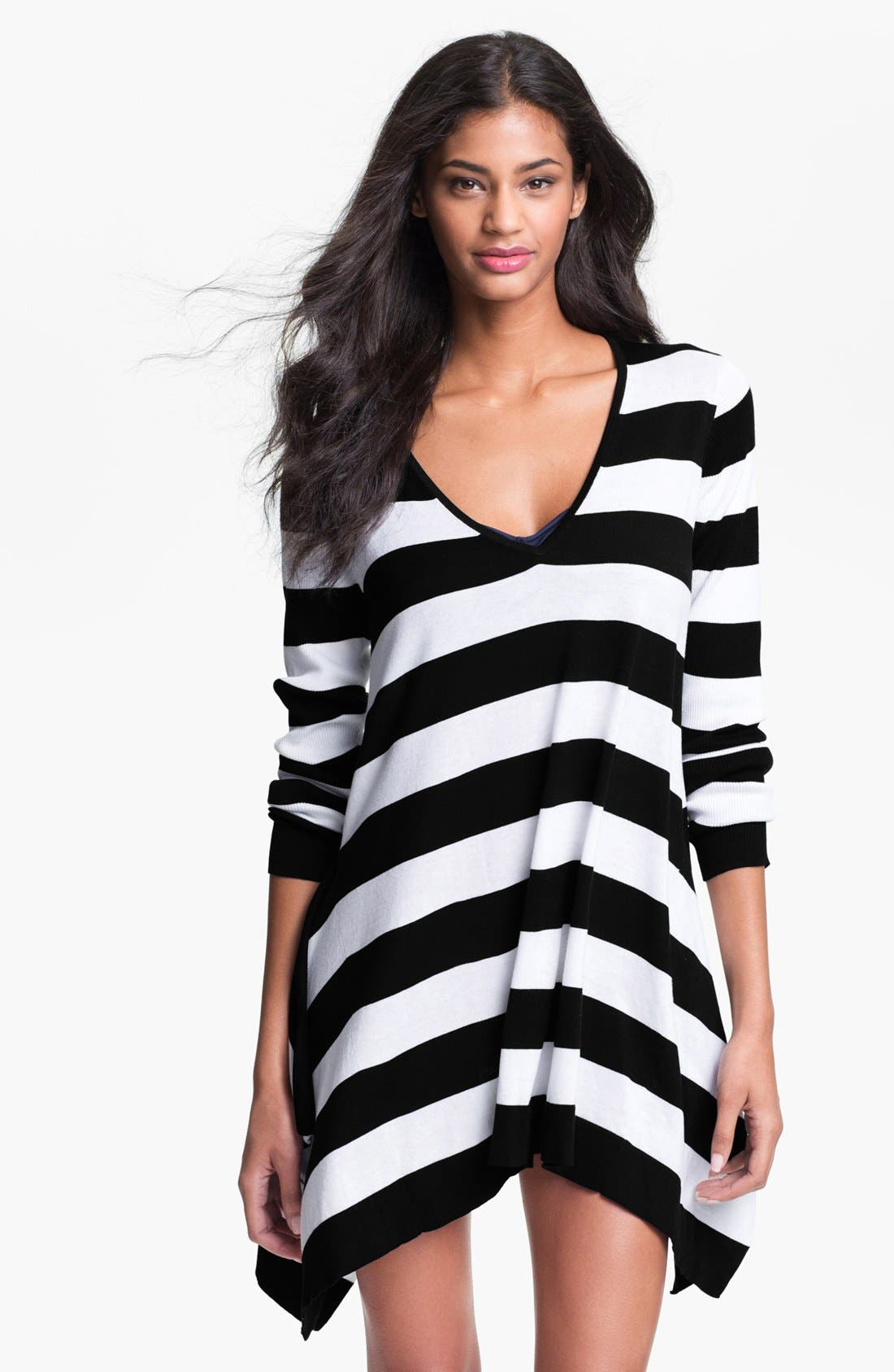 Alternate Image 1 Selected - Tommy Bahama Stripe Sweater Cover-Up