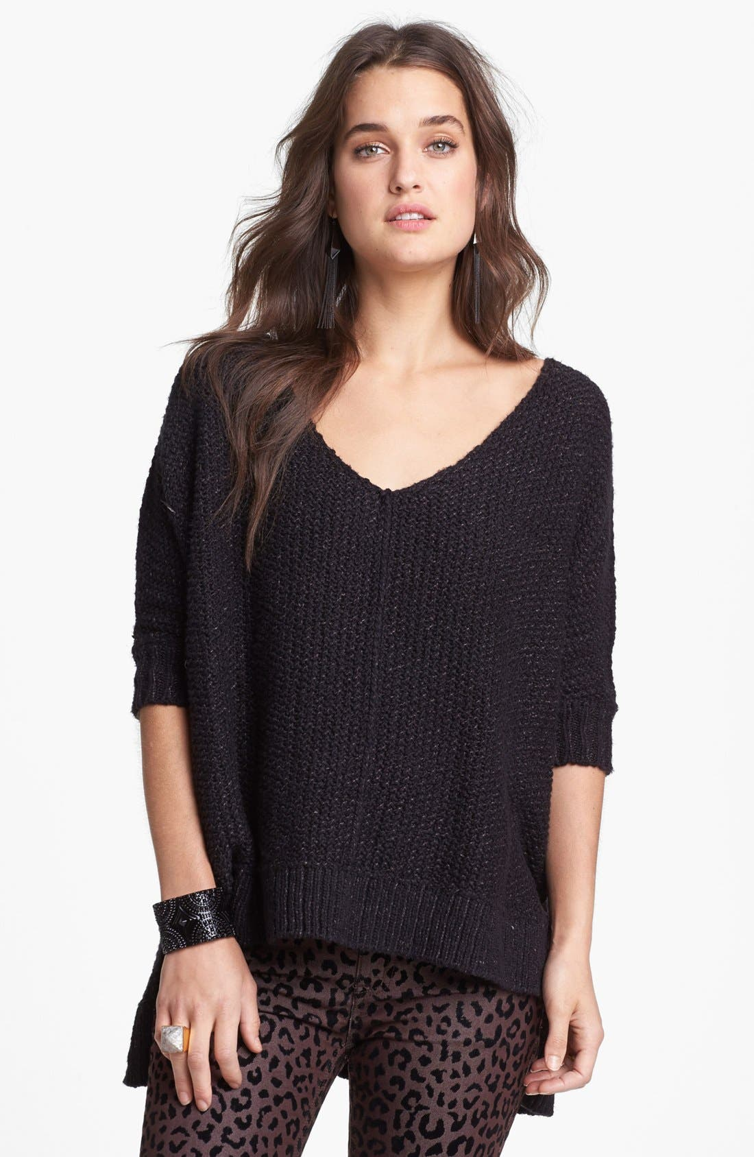 Alternate Image 1 Selected - Free People 'Cozy Cat' High/Low Pullover
