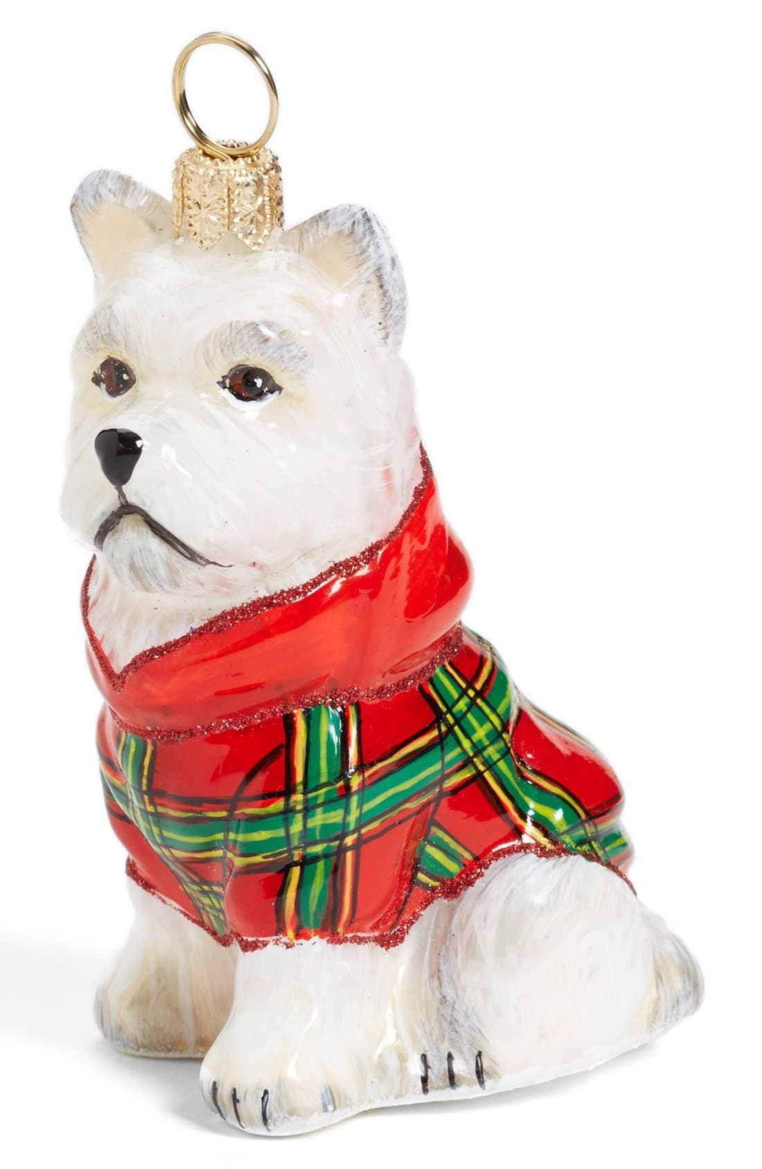 Alternate Image 1 Selected - Joy to the World Collectibles Westie in Plaid Ornament