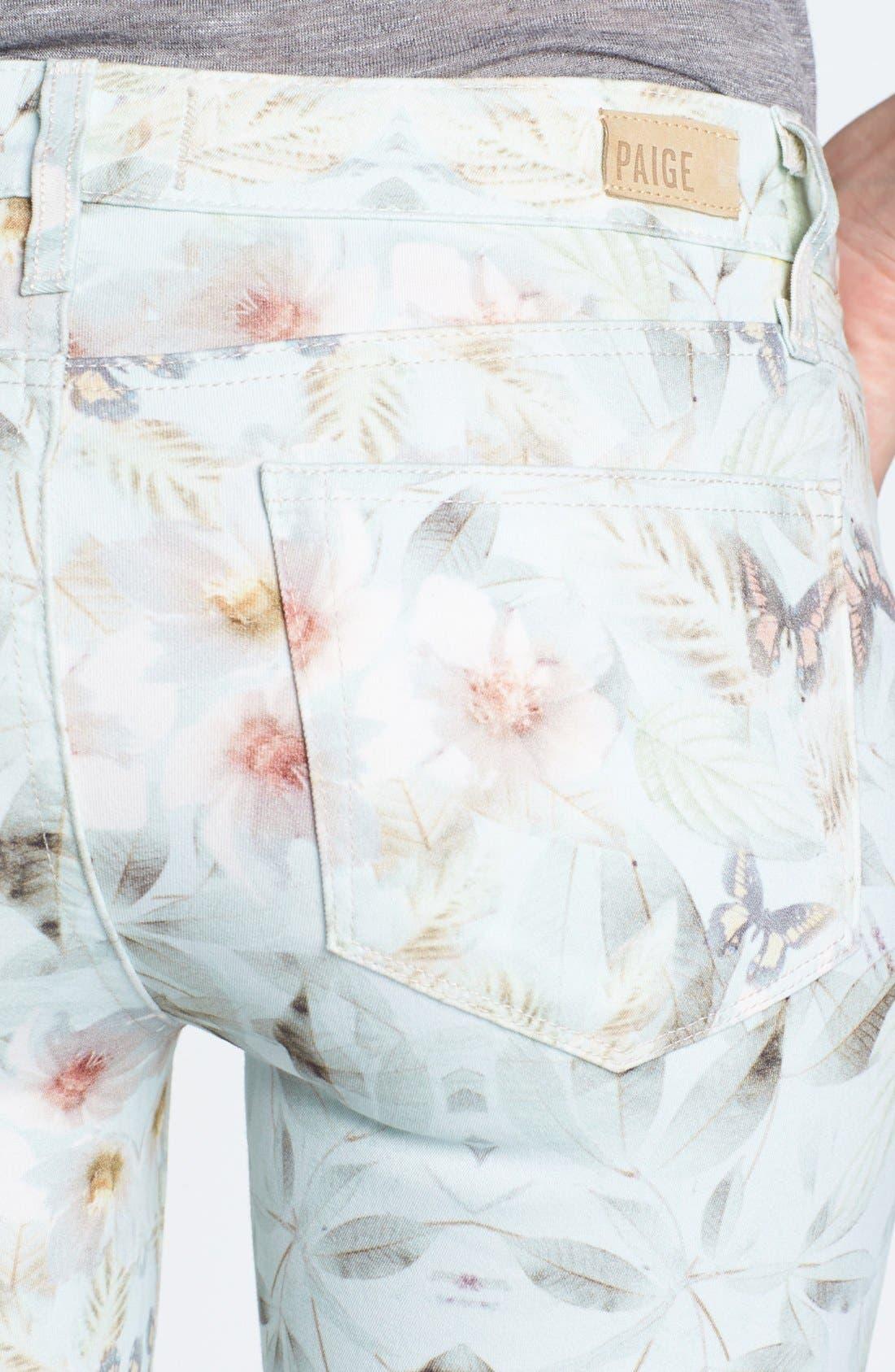 Alternate Image 3  - Paige Denim 'Verdugo' Print Ultra Skinny Jeans (Grey Wind)