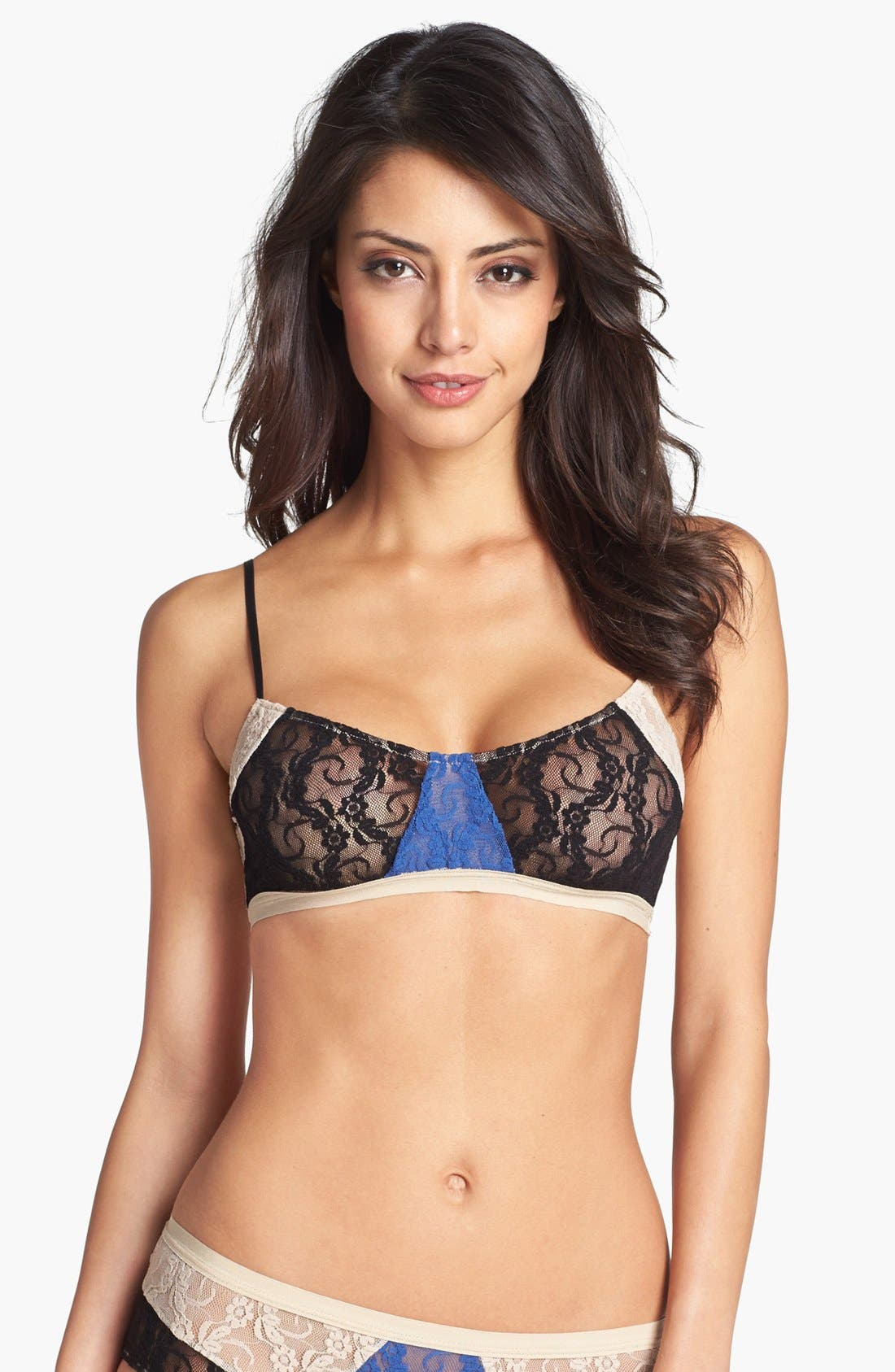Main Image - Only Hearts Color Block Lace Bralette