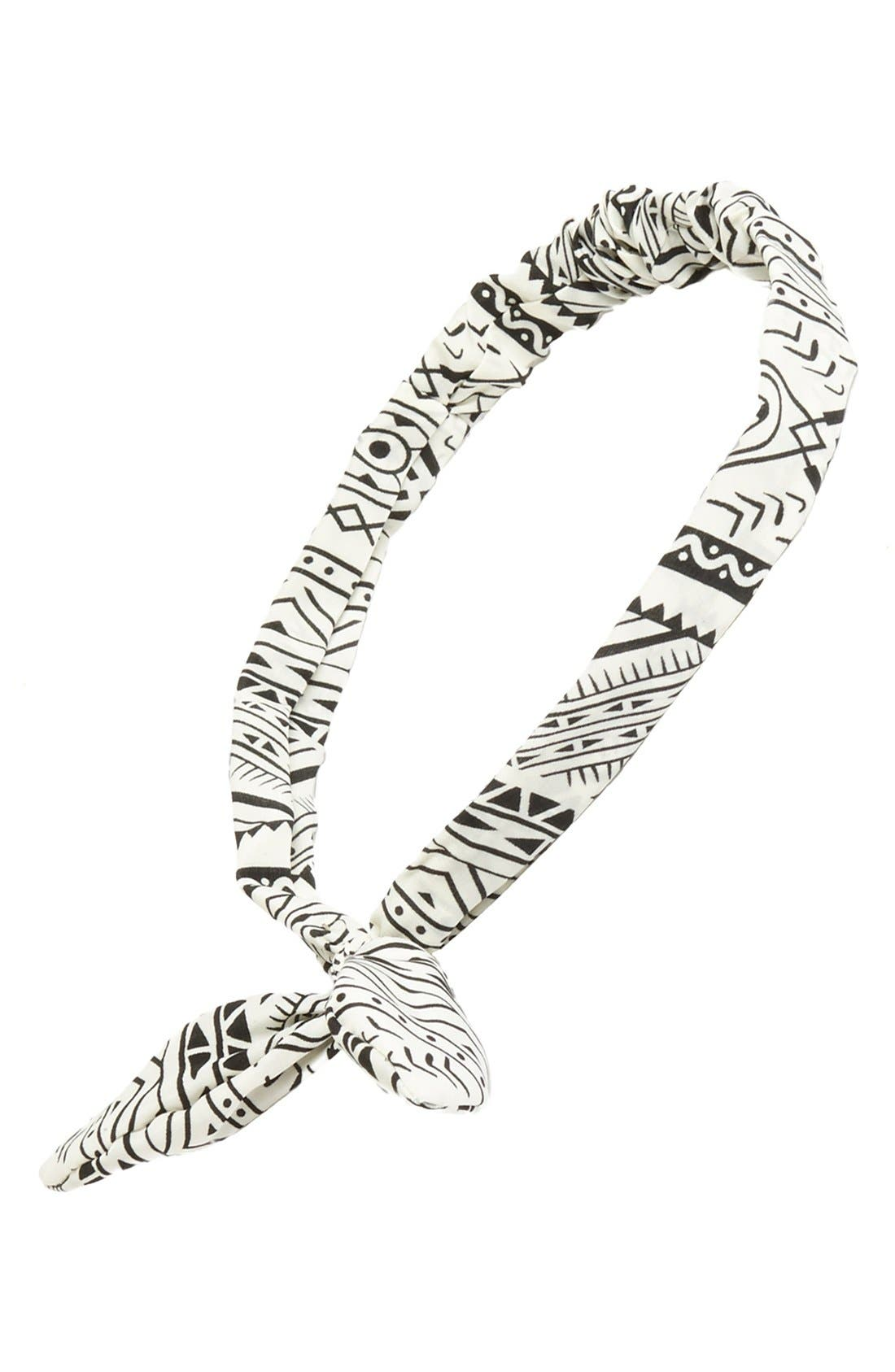 Alternate Image 1 Selected - Topshop Print Wire Headband