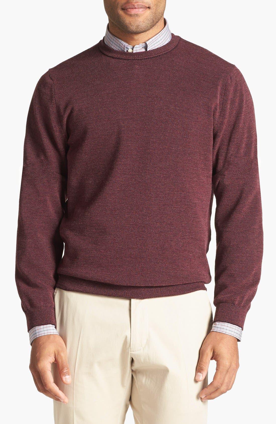 Alternate Image 1 Selected - John W. Nordstrom® Merino Wool Crewneck Sweater