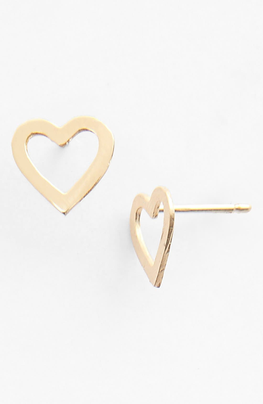 Alternate Image 1 Selected - Lana Jewelry 'Spellbound' Heart Stud Earrings