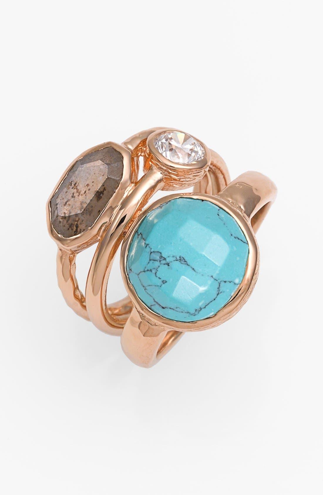 Main Image - Melinda Maria 'Mosaics - Courtney' Stack Ring