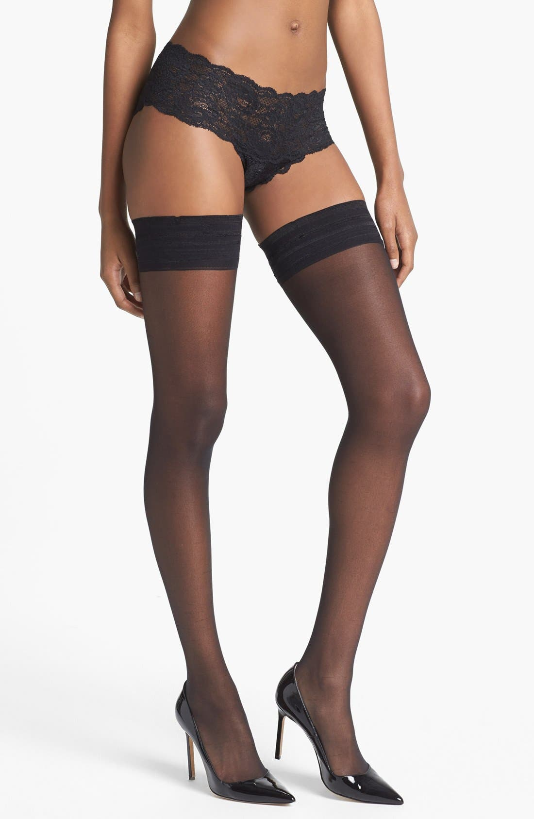 Alternate Image 1 Selected - DKNY Sheer Thigh High Stockings