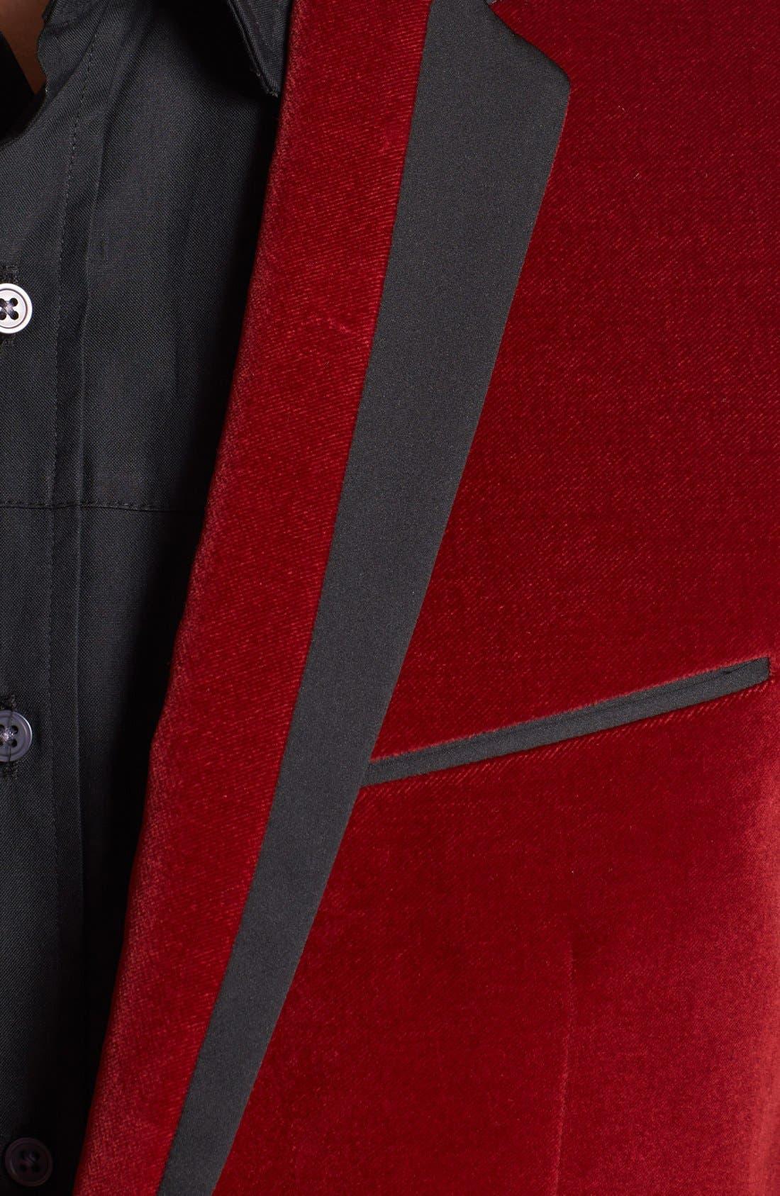 Alternate Image 2  - HUGO 'Askell' Trim Fit Velvet Dinner Jacket