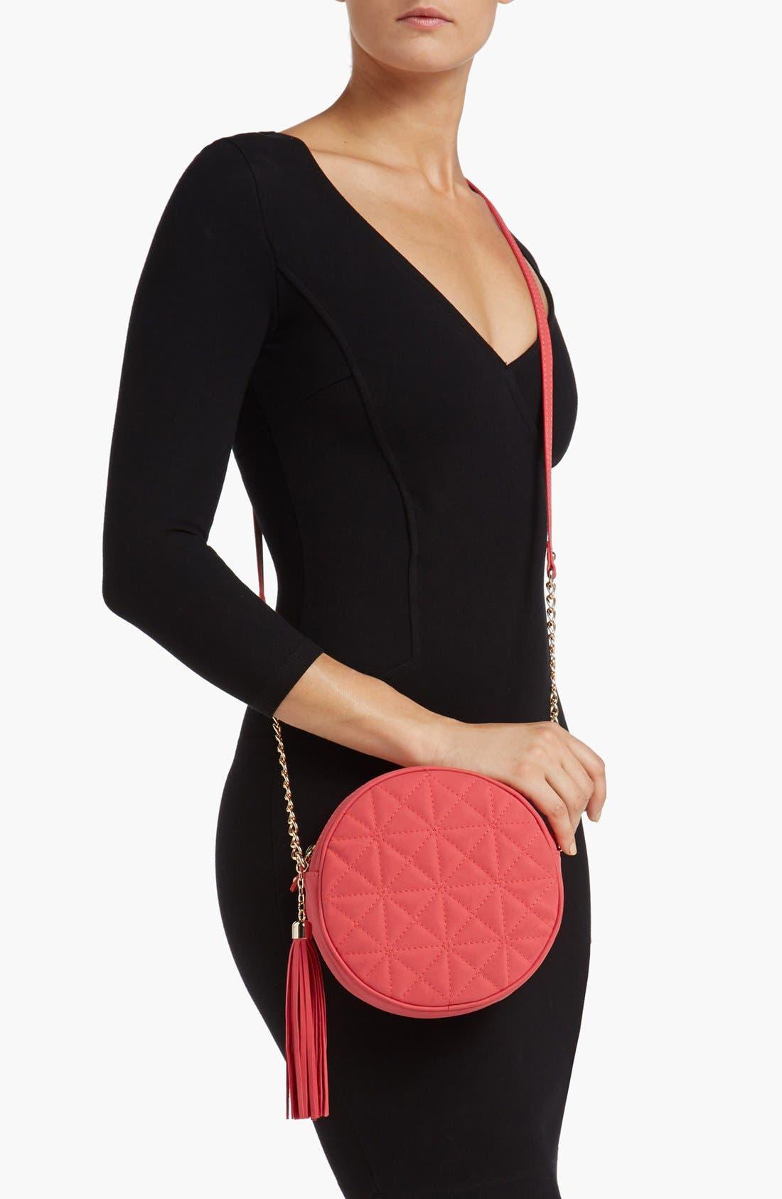 Alternate Image 2  - Cesca Quilted Round Crossbody Bag (Juniors)