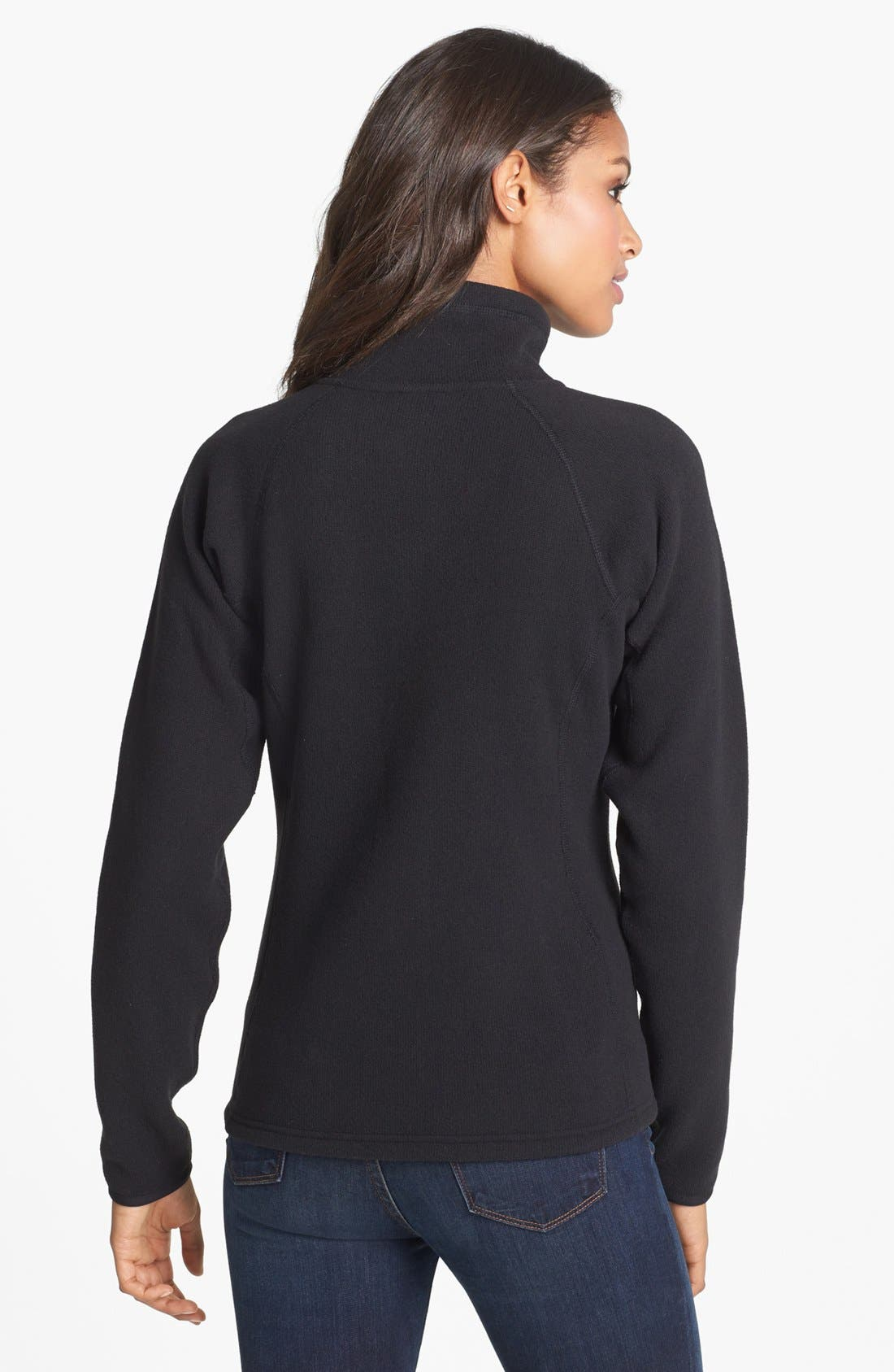 'Crescent' Full Zip Jacket,                             Alternate thumbnail 2, color,                             Black