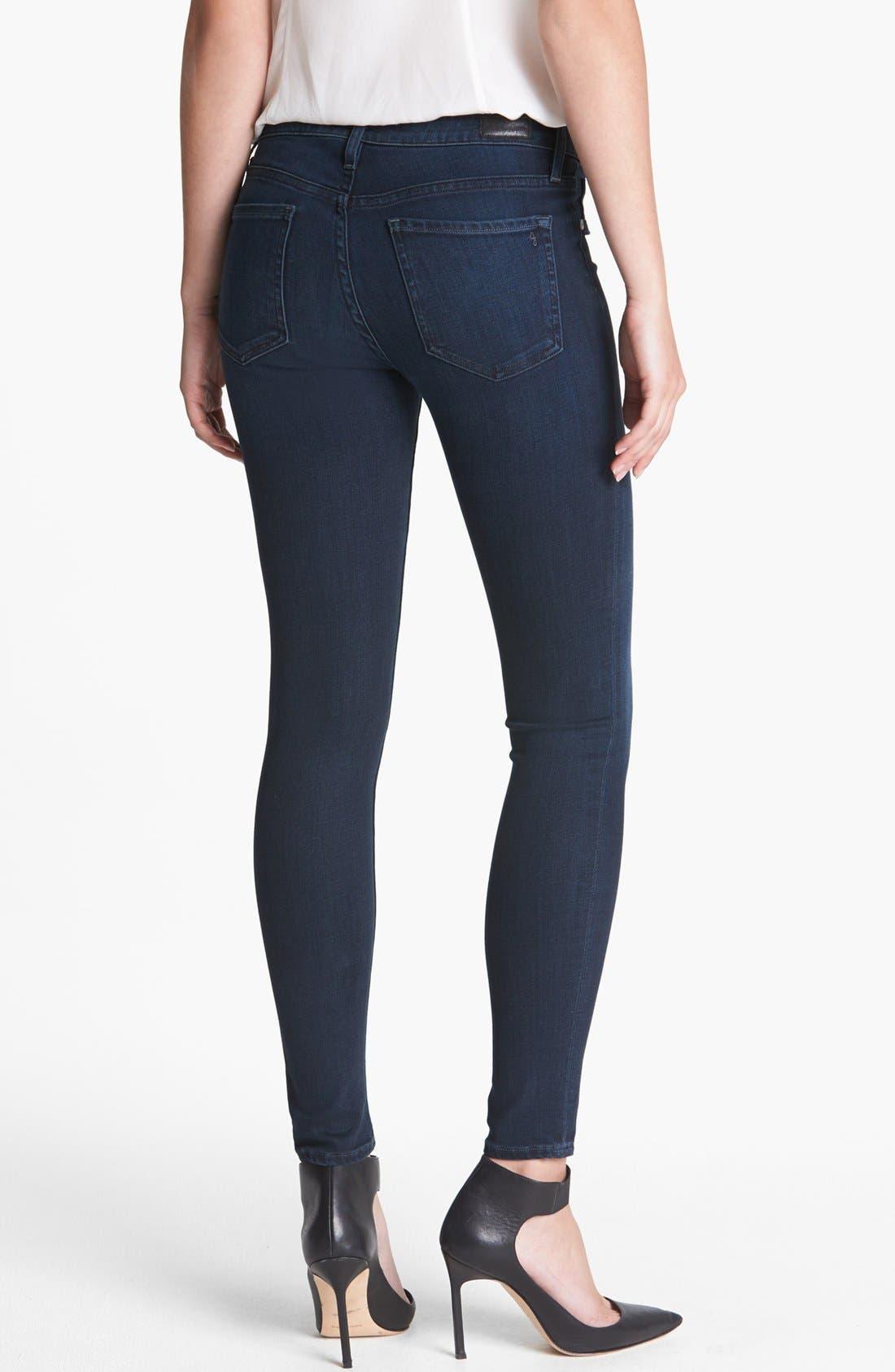 Alternate Image 2  - Joie Ankle Stretch Skinny Jeans (Neptune)