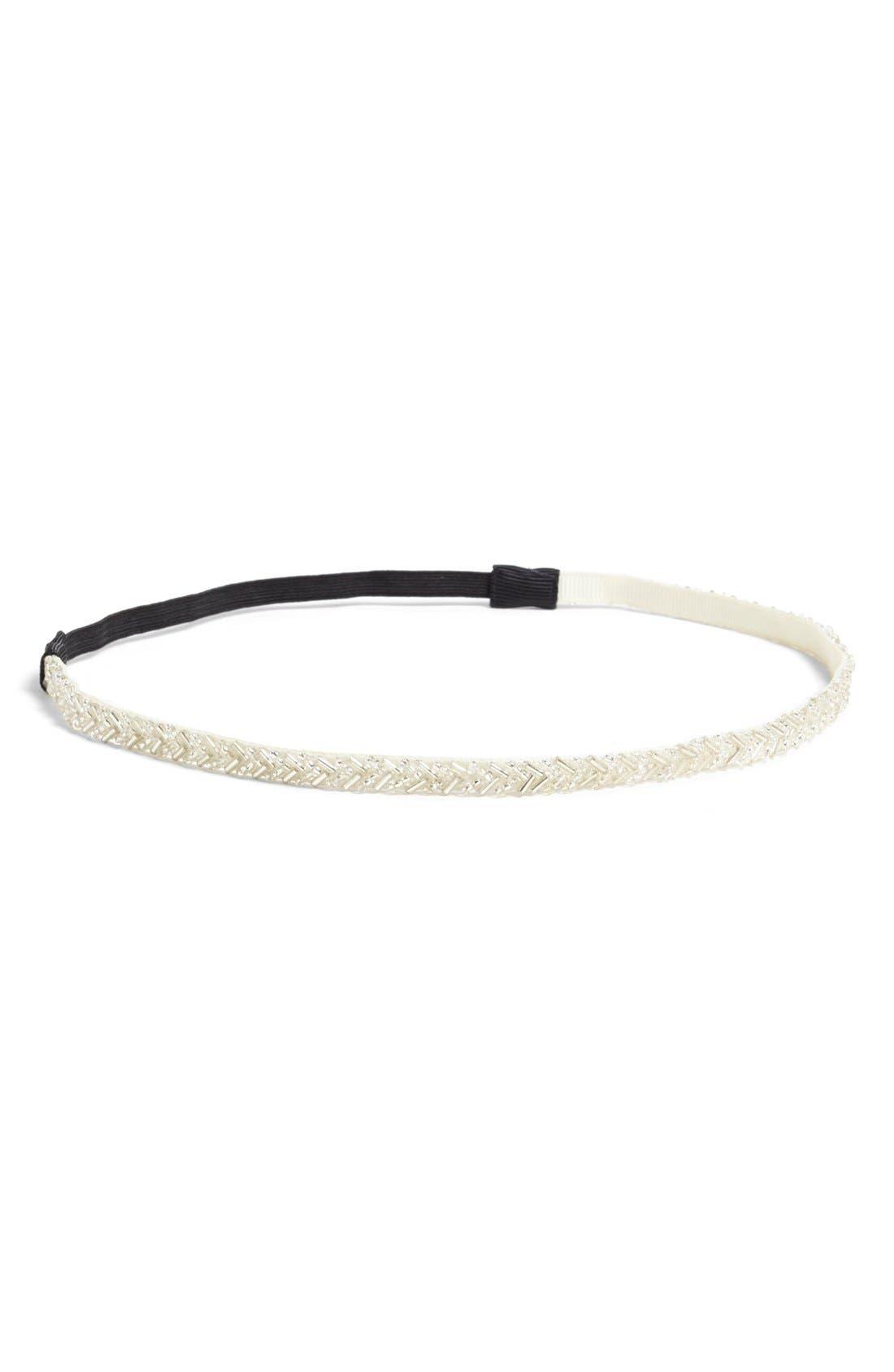 Alternate Image 1 Selected - Lulu Beaded Headband (Juniors)
