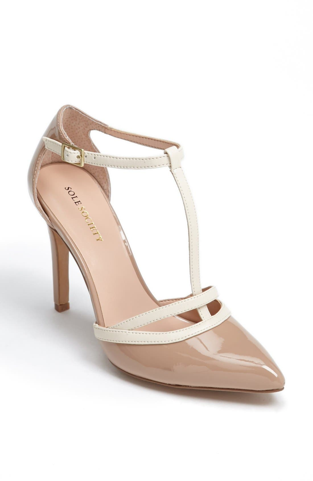 Alternate Image 1 Selected - Sole Society 'Nicola' T-Strap Pump