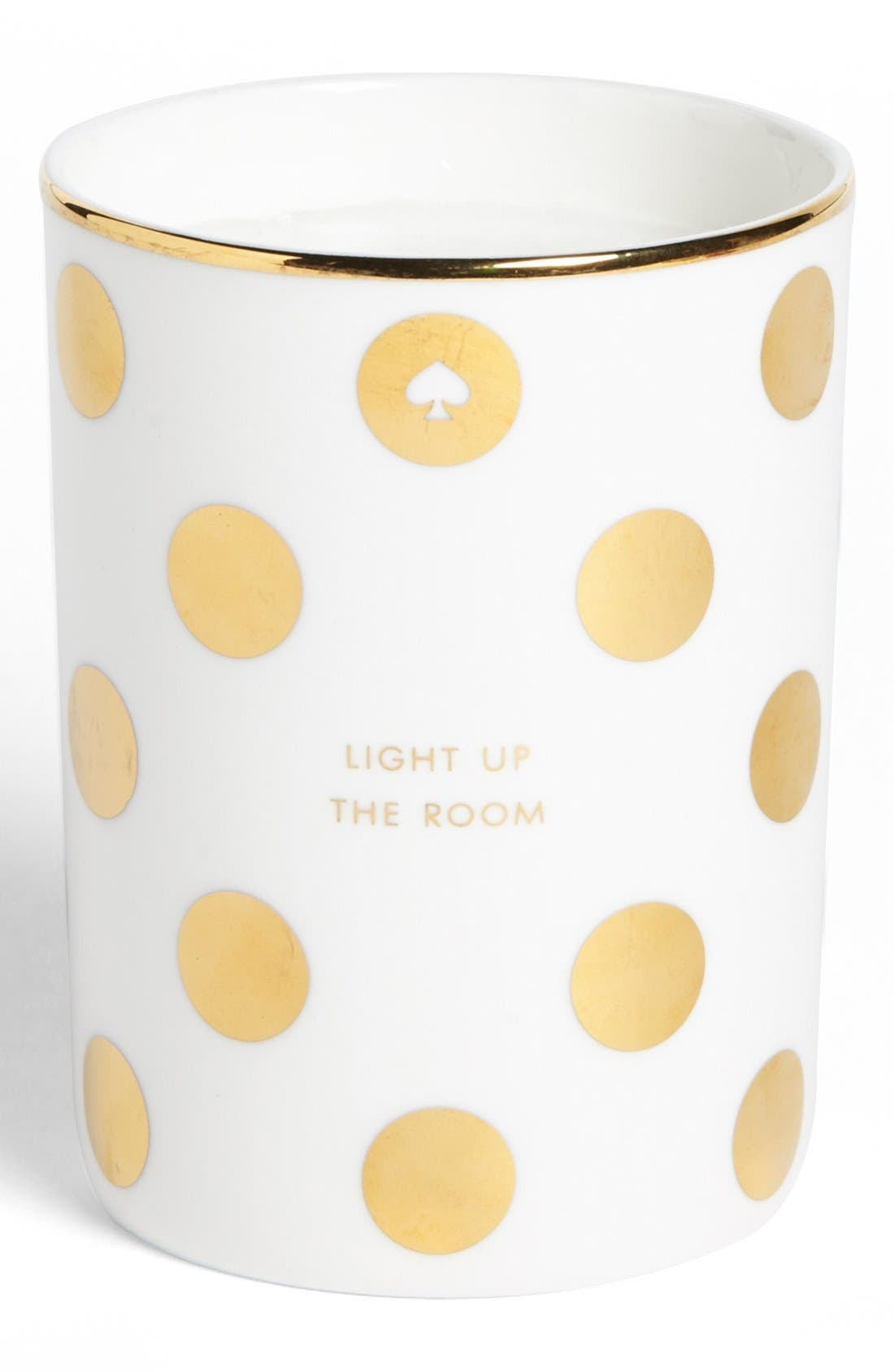 'light up the room' scented candle,                         Main,                         color, White/ Gold