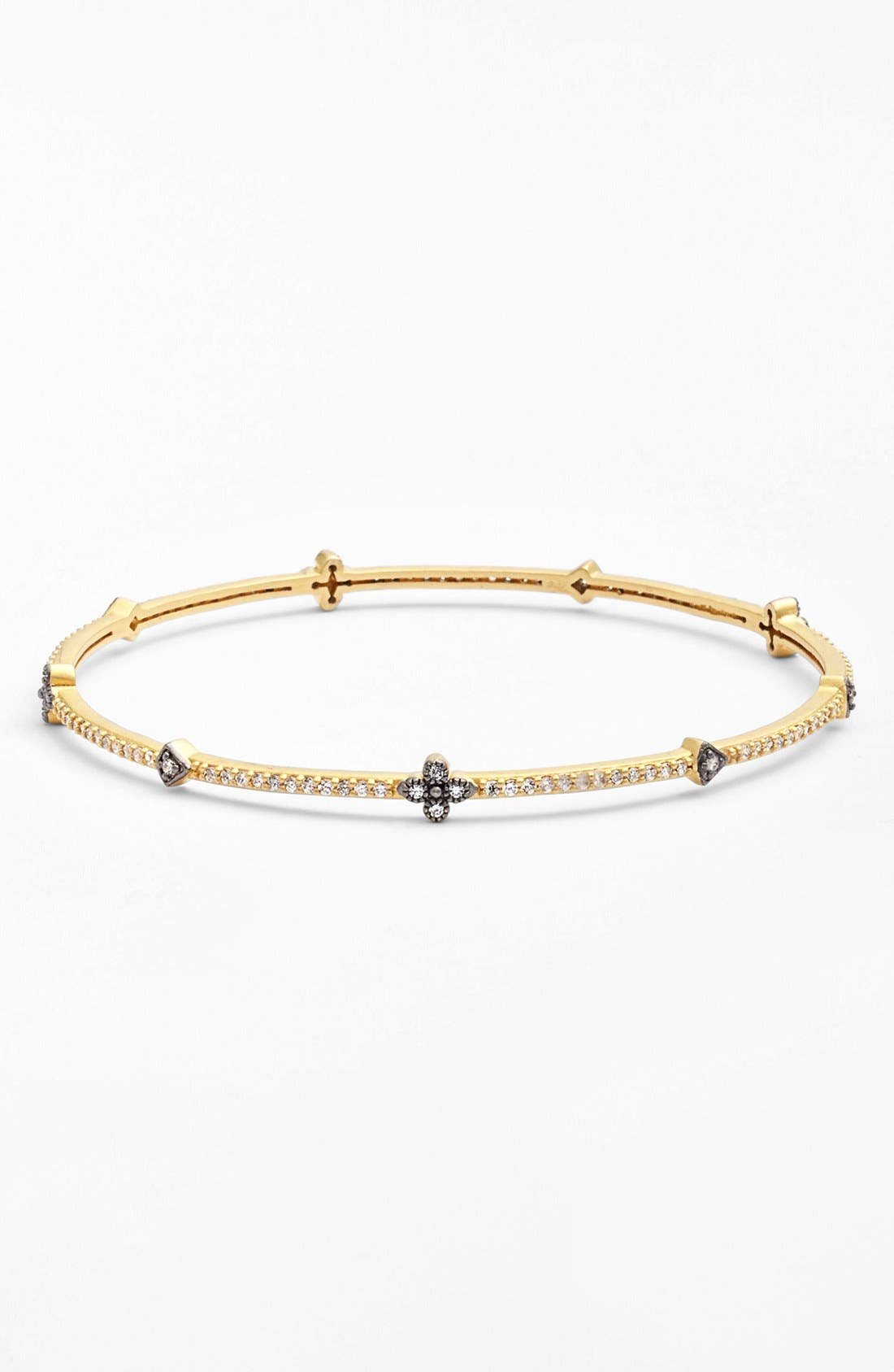 Clover Station Bangle,                             Main thumbnail 1, color,                             Gold/ Gunmetal
