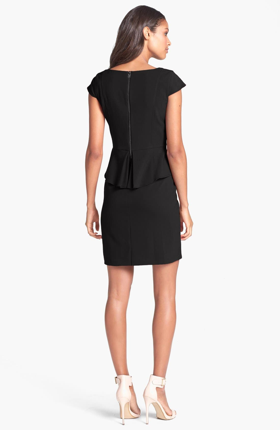 Alternate Image 2  - Marc New York by Andrew Marc Peplum Sheath Dress