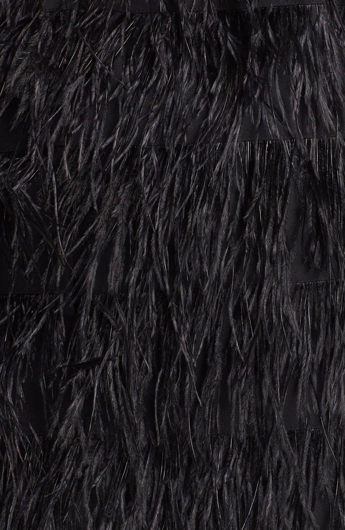 Alternate Image 3  - Vince Camuto Feather Tiered Miniskirt