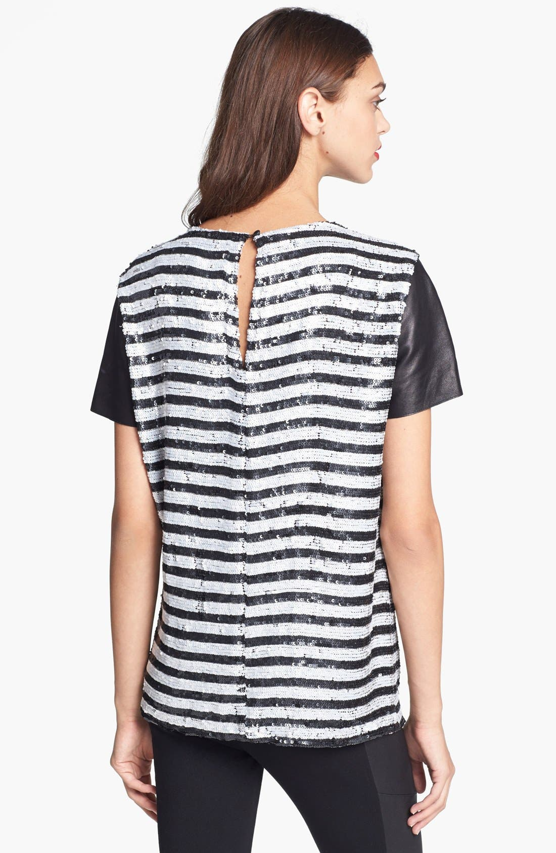 Alternate Image 2  - Rachel Zoe Stripe Sequin Top