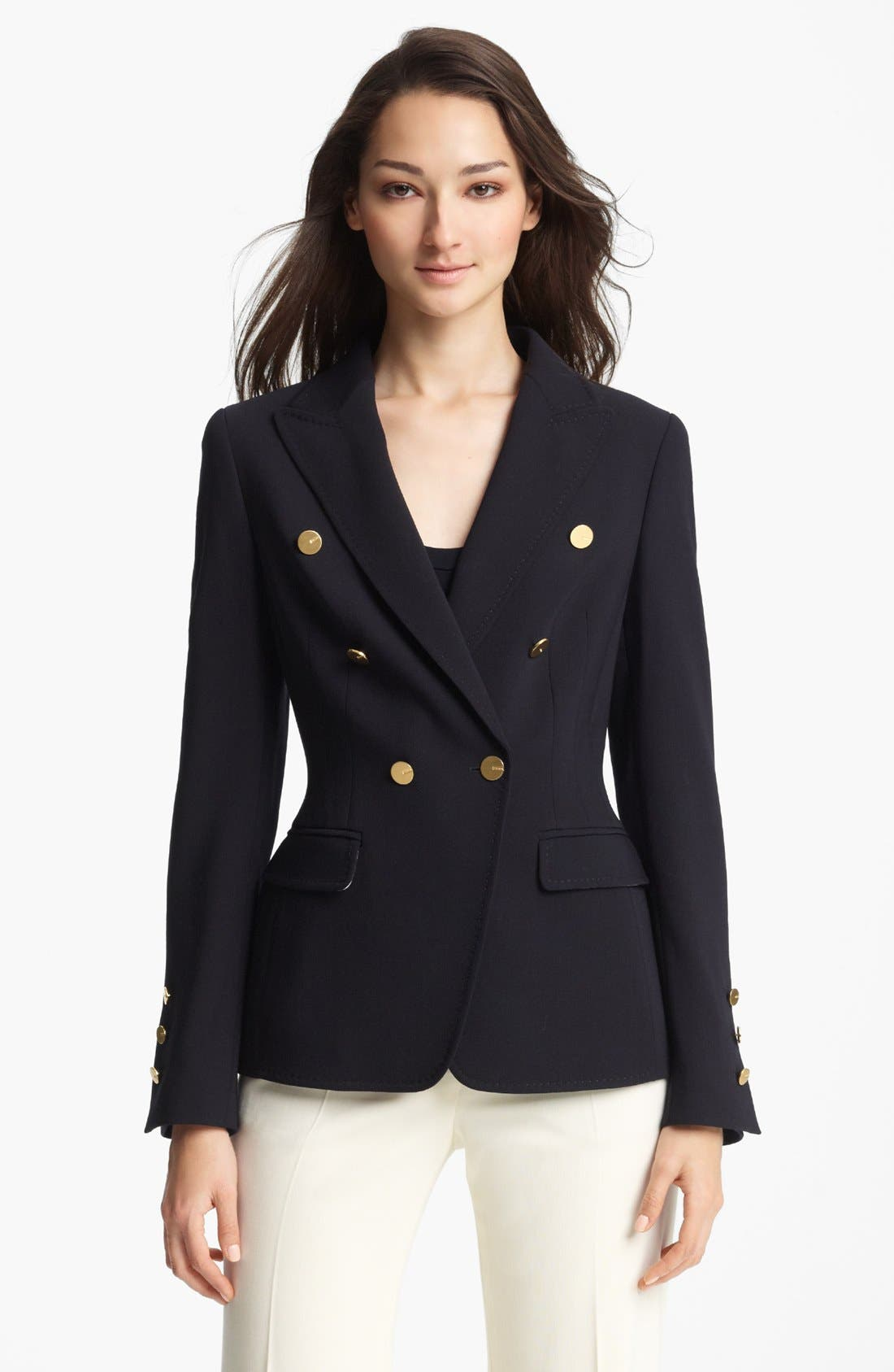 Main Image - ESCADA 'Columbo' Double Breasted Stretch Wool Jacket