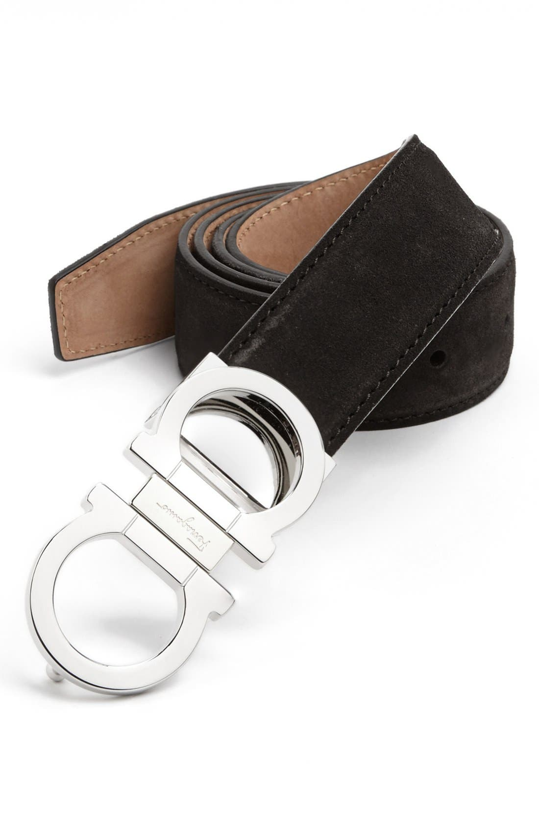Alternate Image 1 Selected - Salvatore Ferragamo Suede Belt